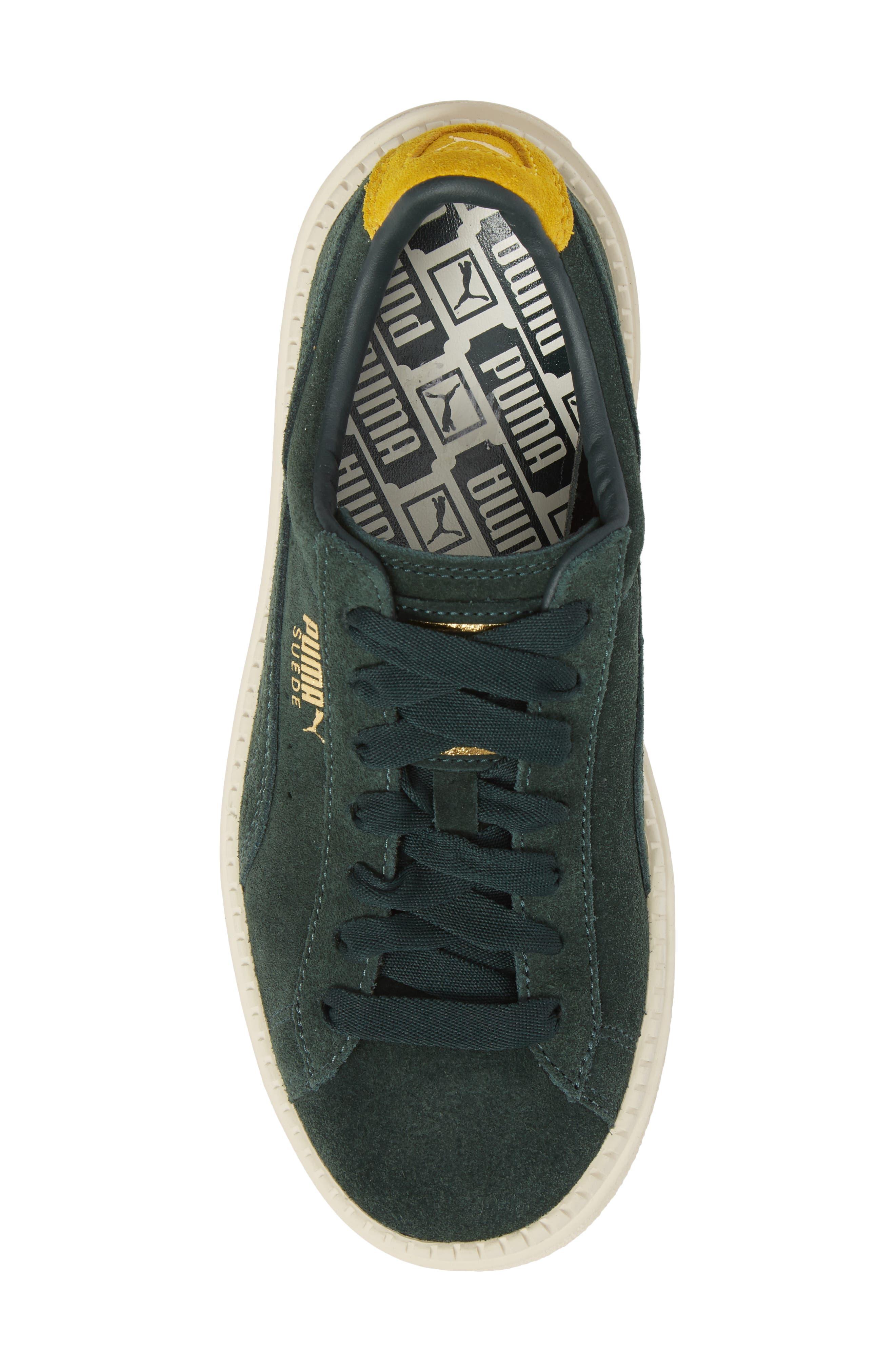 Platform Trace Bold Sneaker,                             Alternate thumbnail 5, color,                             Scrab-Lemon -Vanilla Ice