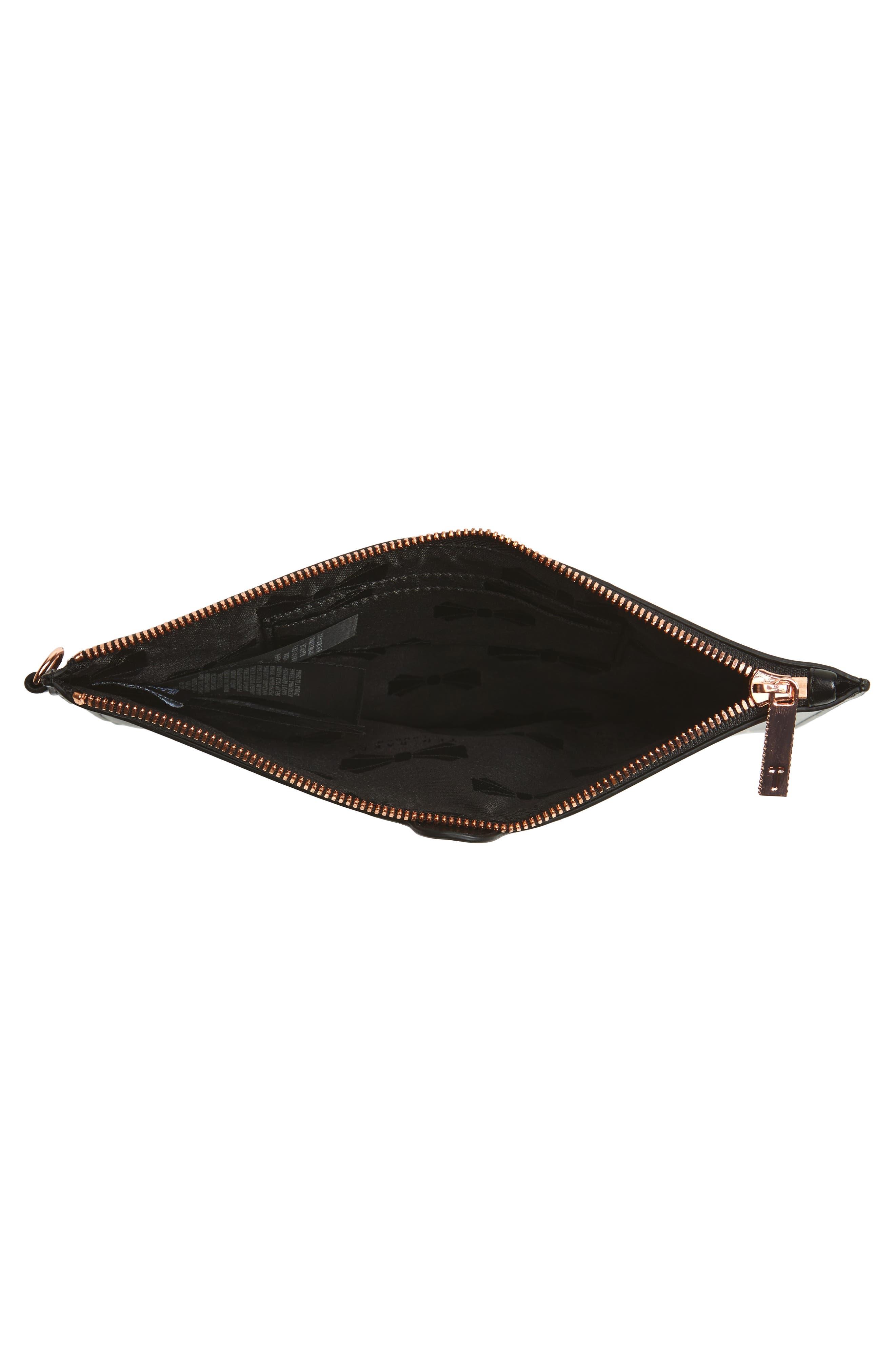 Barker Leather Pouch,                             Alternate thumbnail 4, color,                             Black