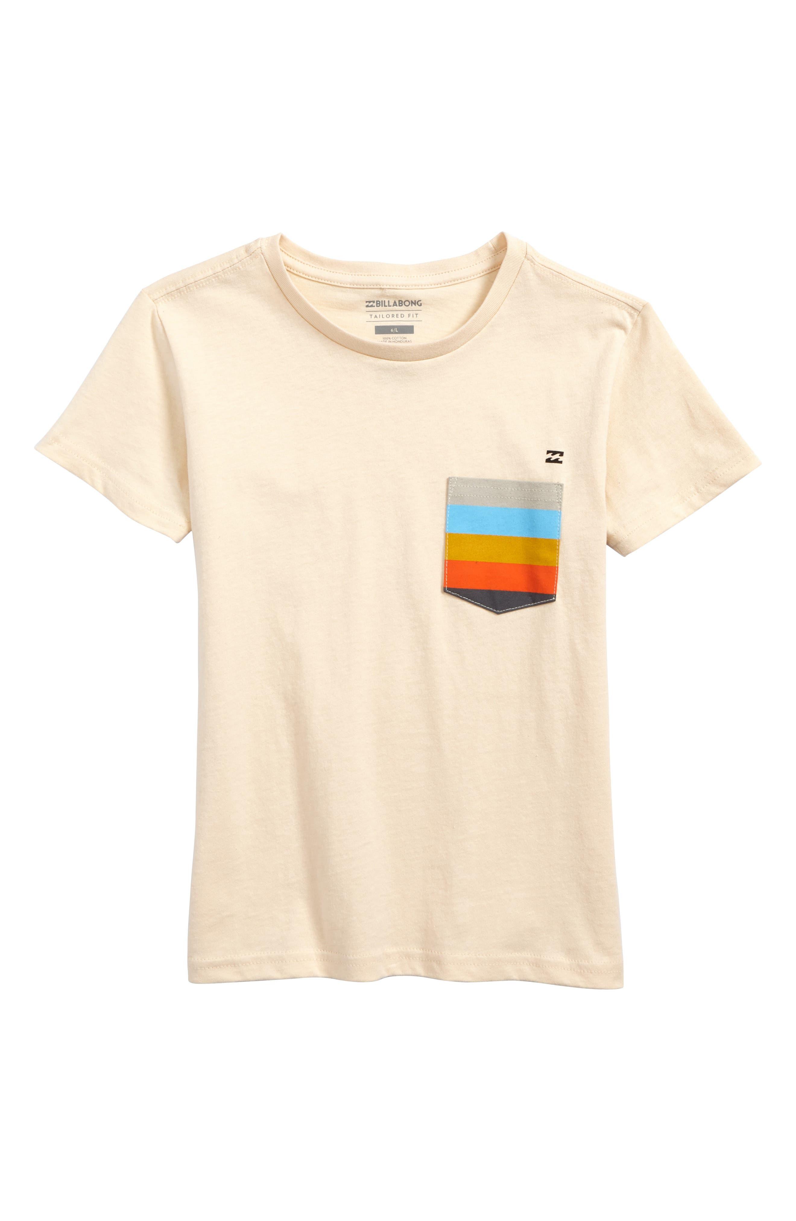 Team Pocket T-Shirt,                         Main,                         color, Cream