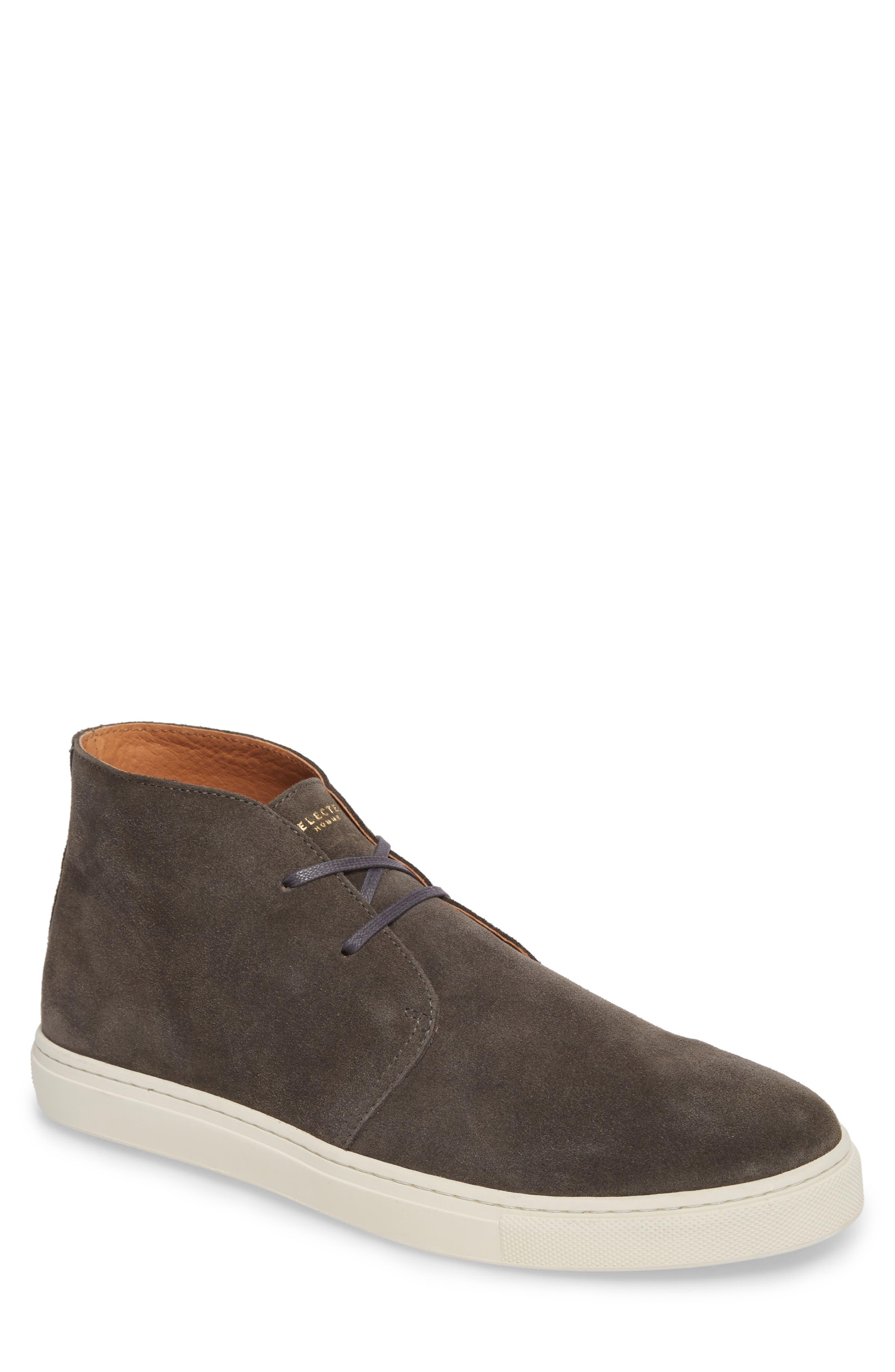 Dempsey Chukka Sneaker,                             Main thumbnail 1, color,                             Grey Suede