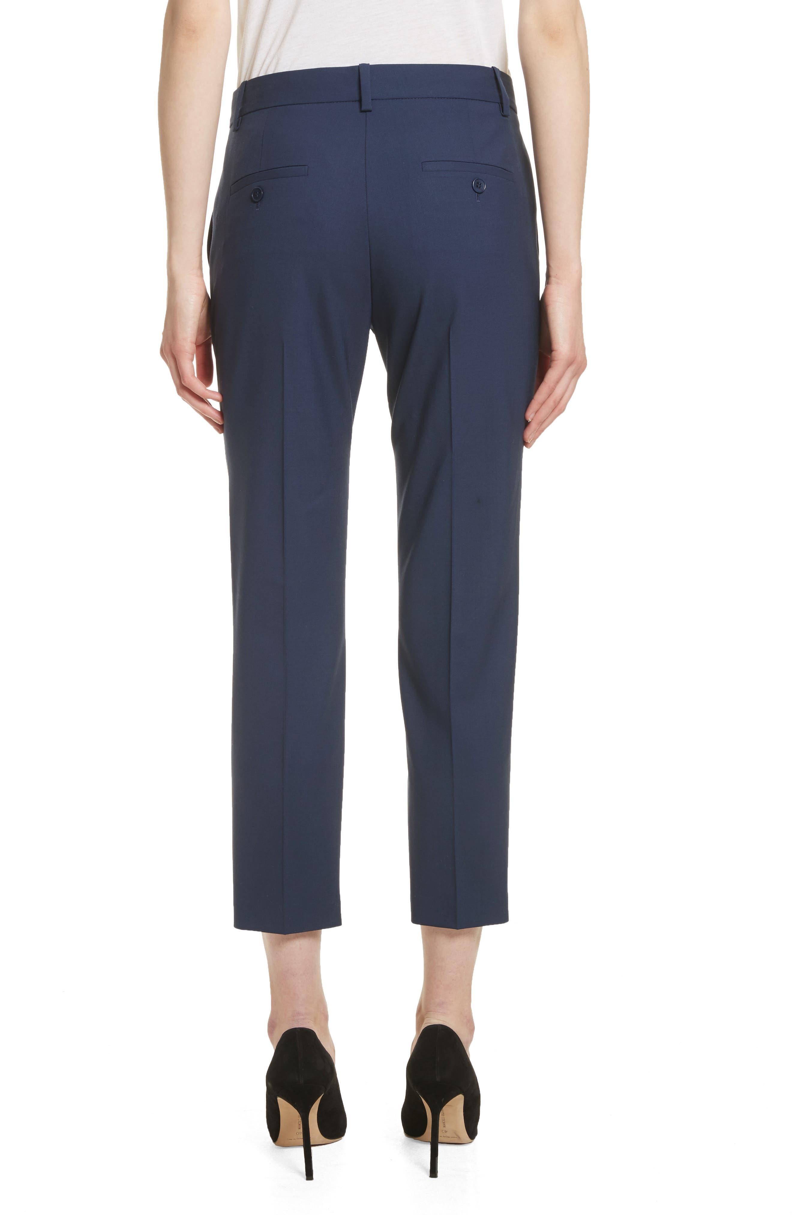 Treeca 2 Good Wool Crop Suit Pants,                             Alternate thumbnail 2, color,                             Sea Blue