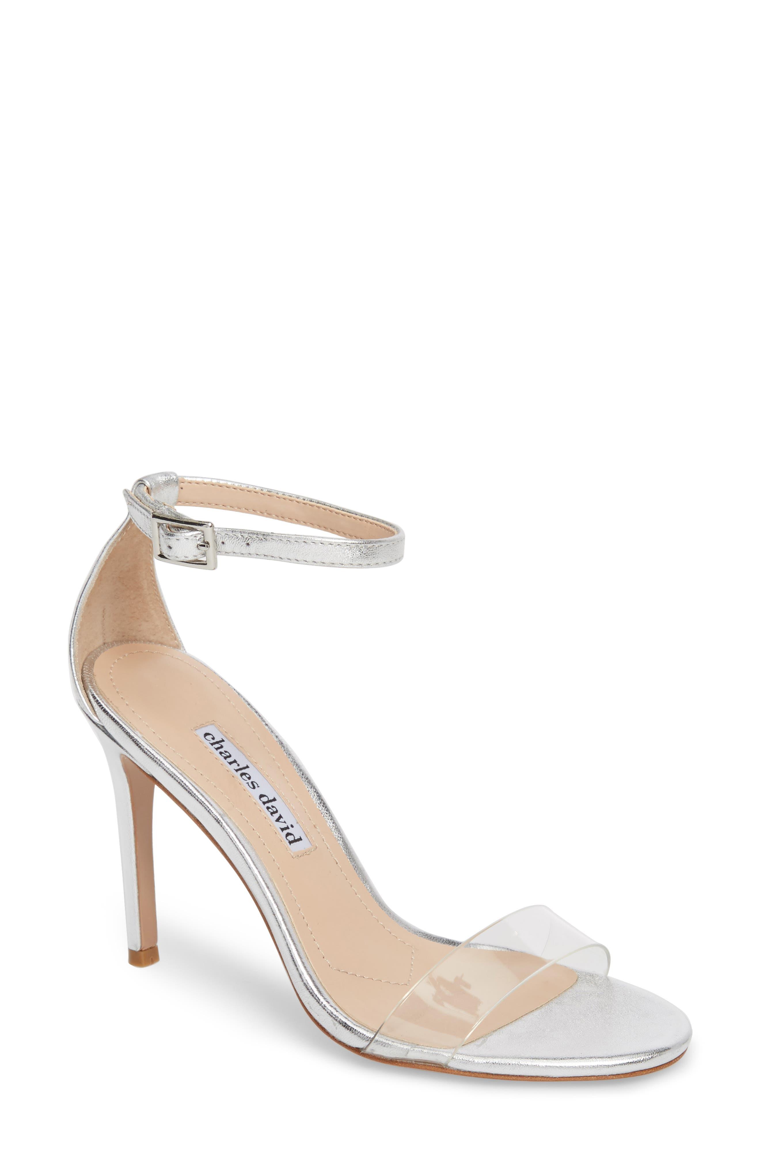 Cristal Sandal,                         Main,                         color, Silver Metallic Leather