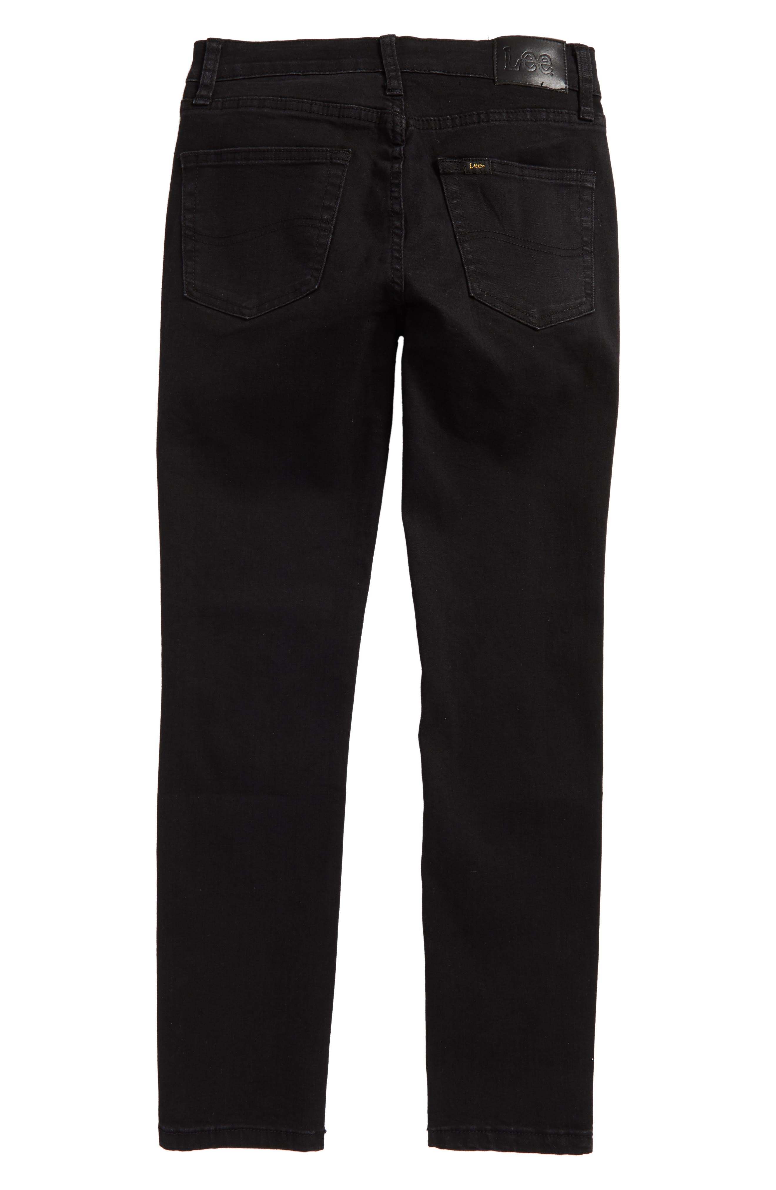 Stretch Skinny Jeans,                             Alternate thumbnail 2, color,                             Jet