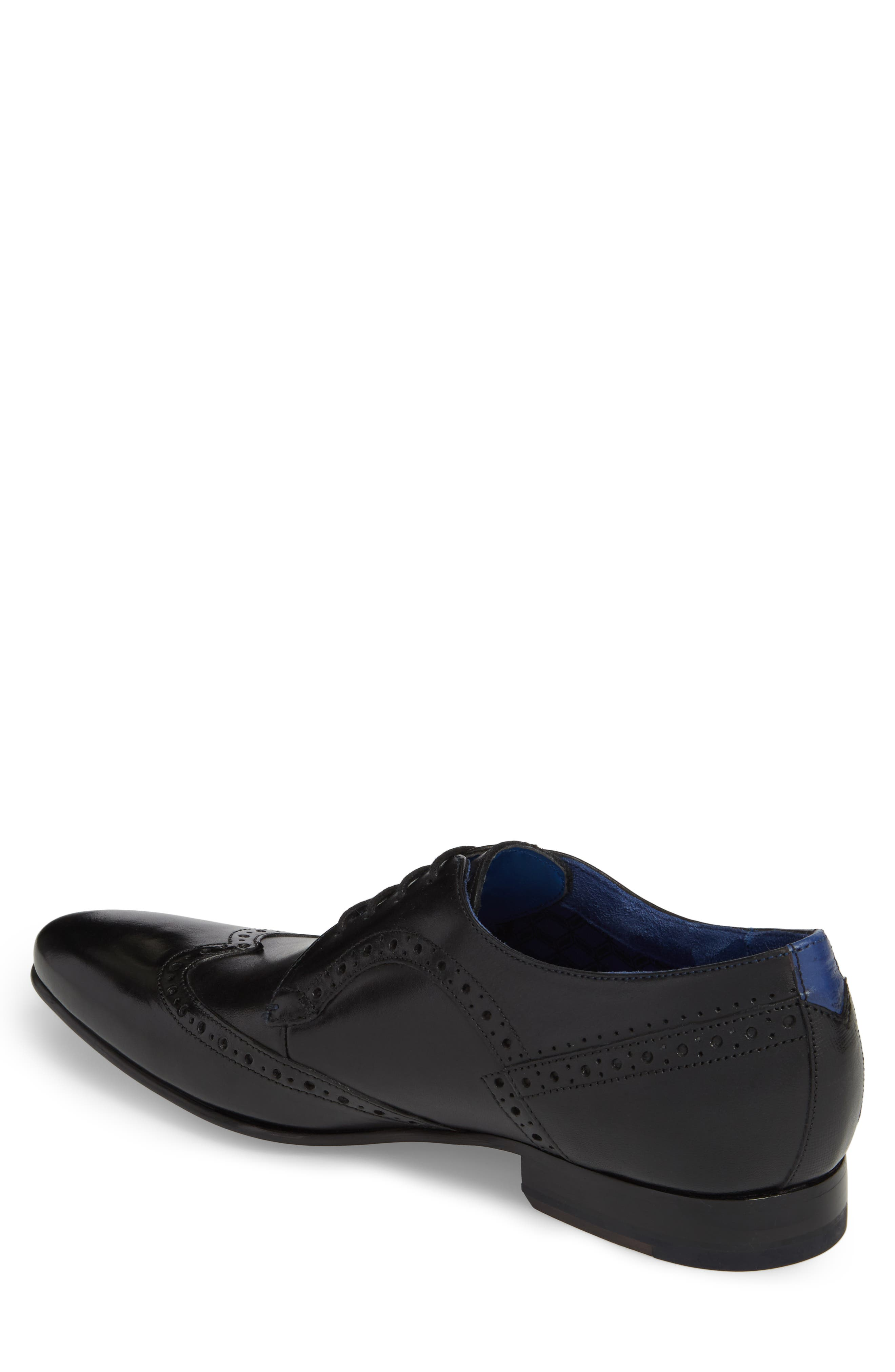 Ollivur Wingtip,                             Alternate thumbnail 2, color,                             Black Leather