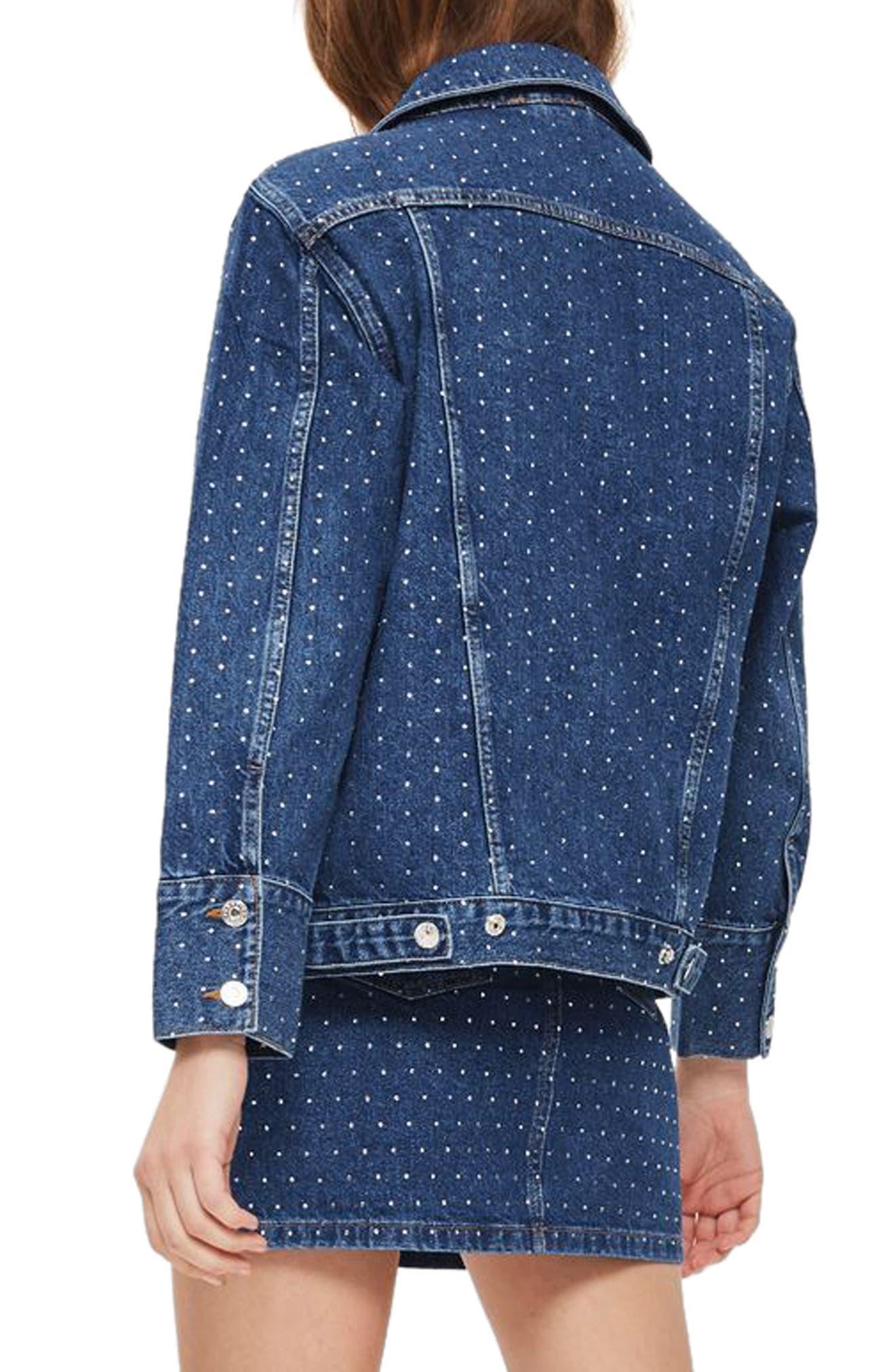 Alternate Image 3  - Topshop Crystal Studded Denim Jacket