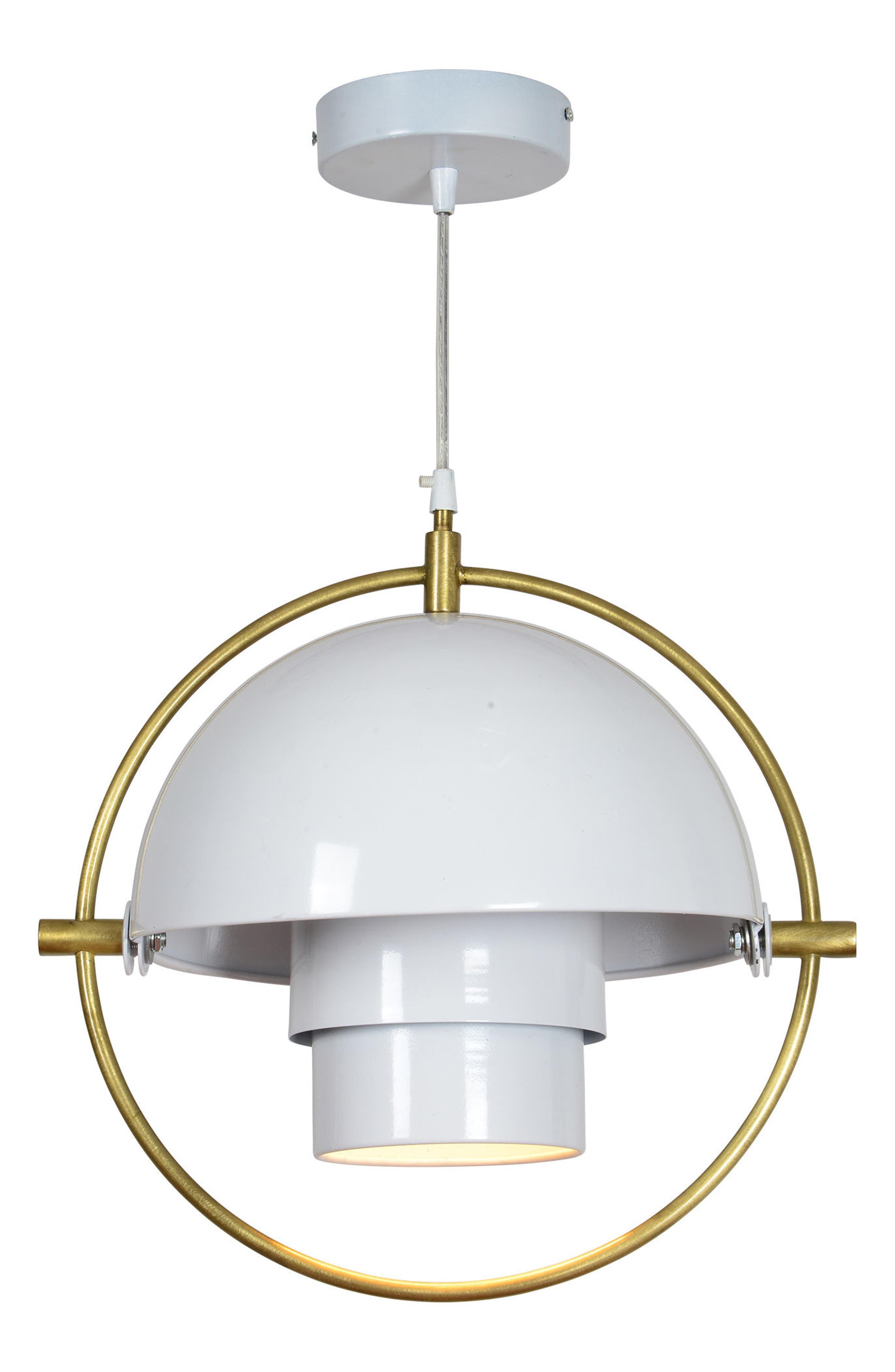 Lantern Ceiling Light Fixture,                         Main,                         color, Matte White