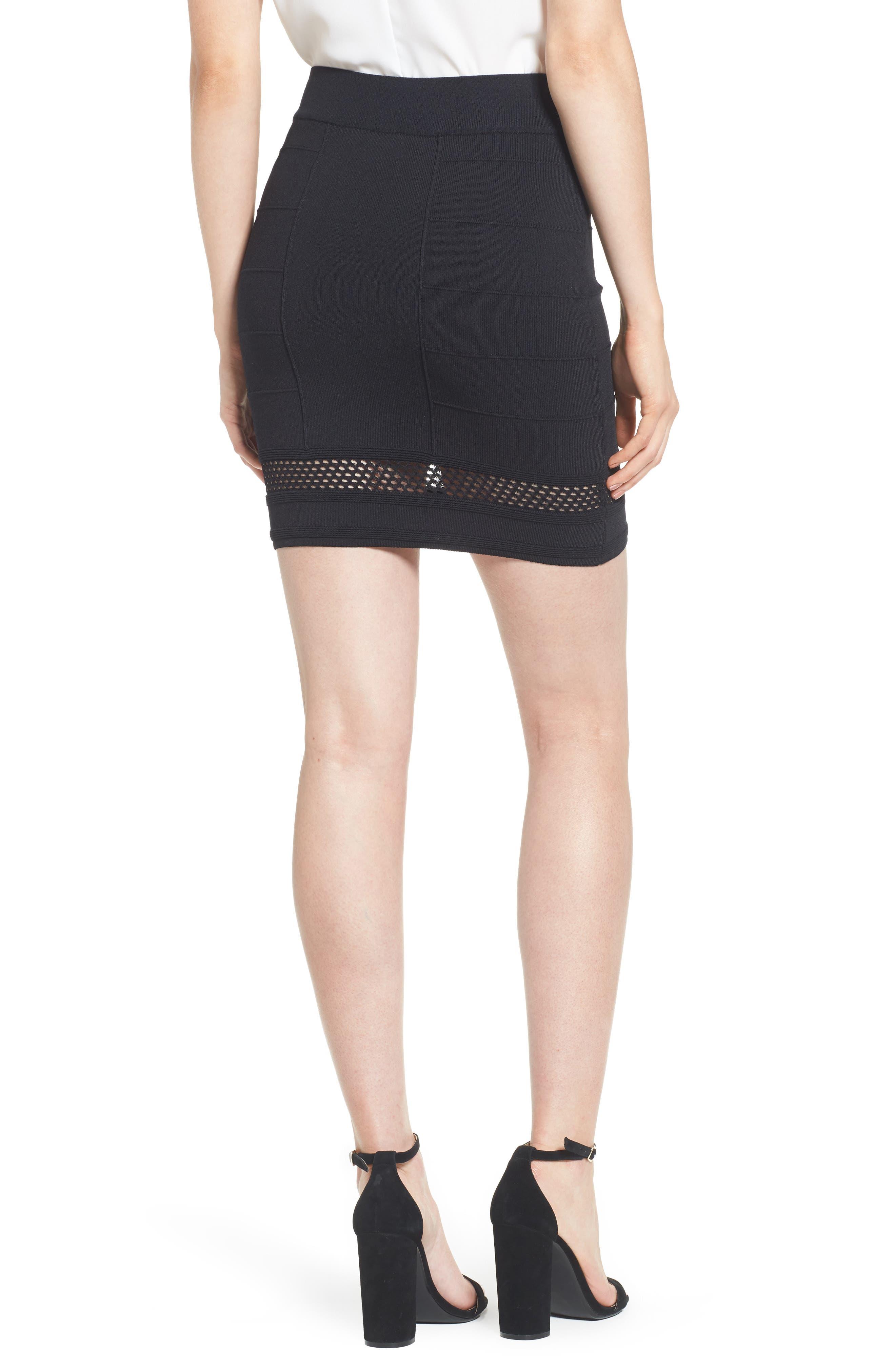 Bishop + Young Siena Peekaboo Skirt,                             Alternate thumbnail 2, color,                             Black