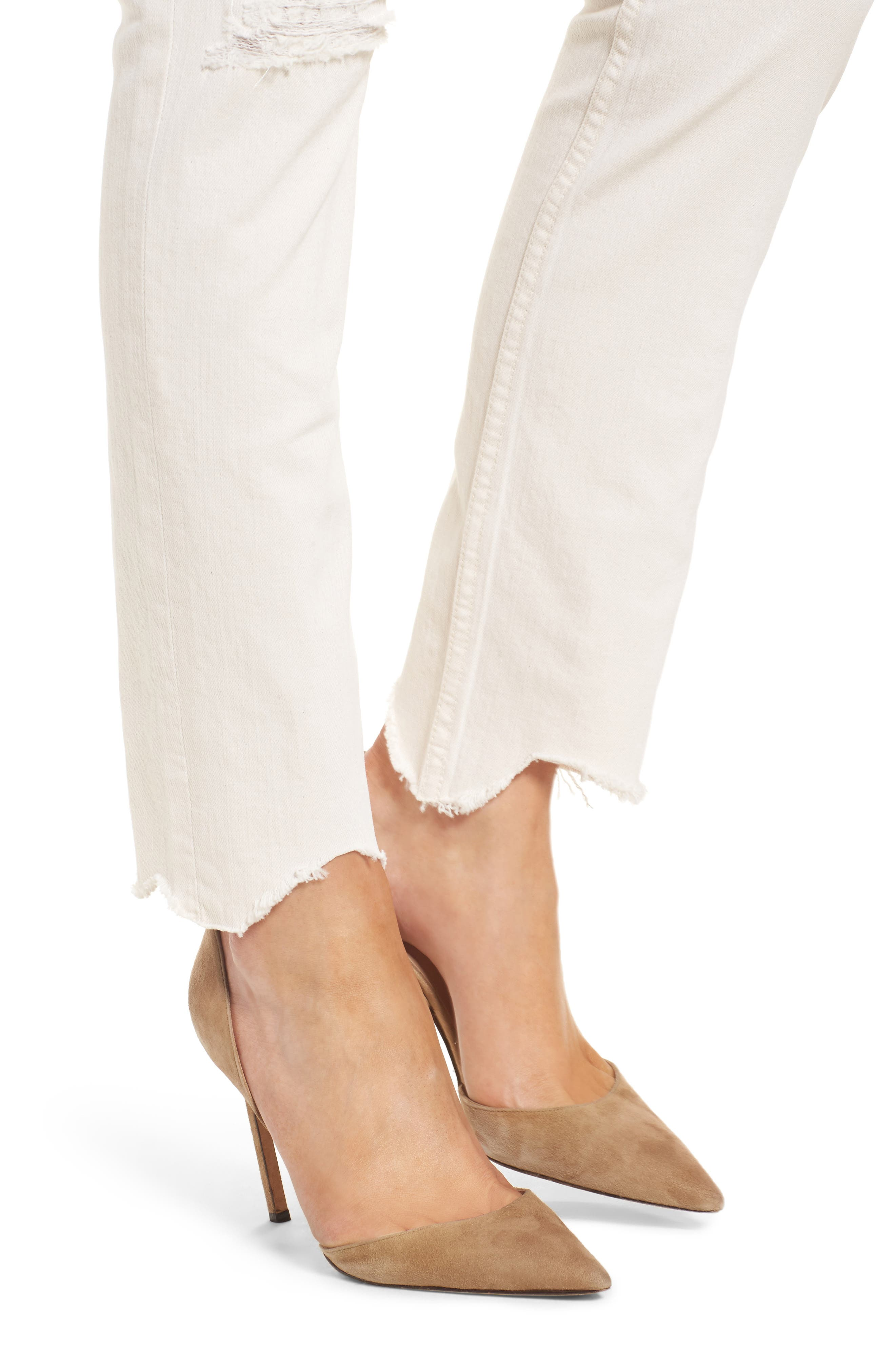 Alternate Image 4  - MOTHER The Flirt Chew Ankle Straight Leg Jeans (Unnatural Acts)