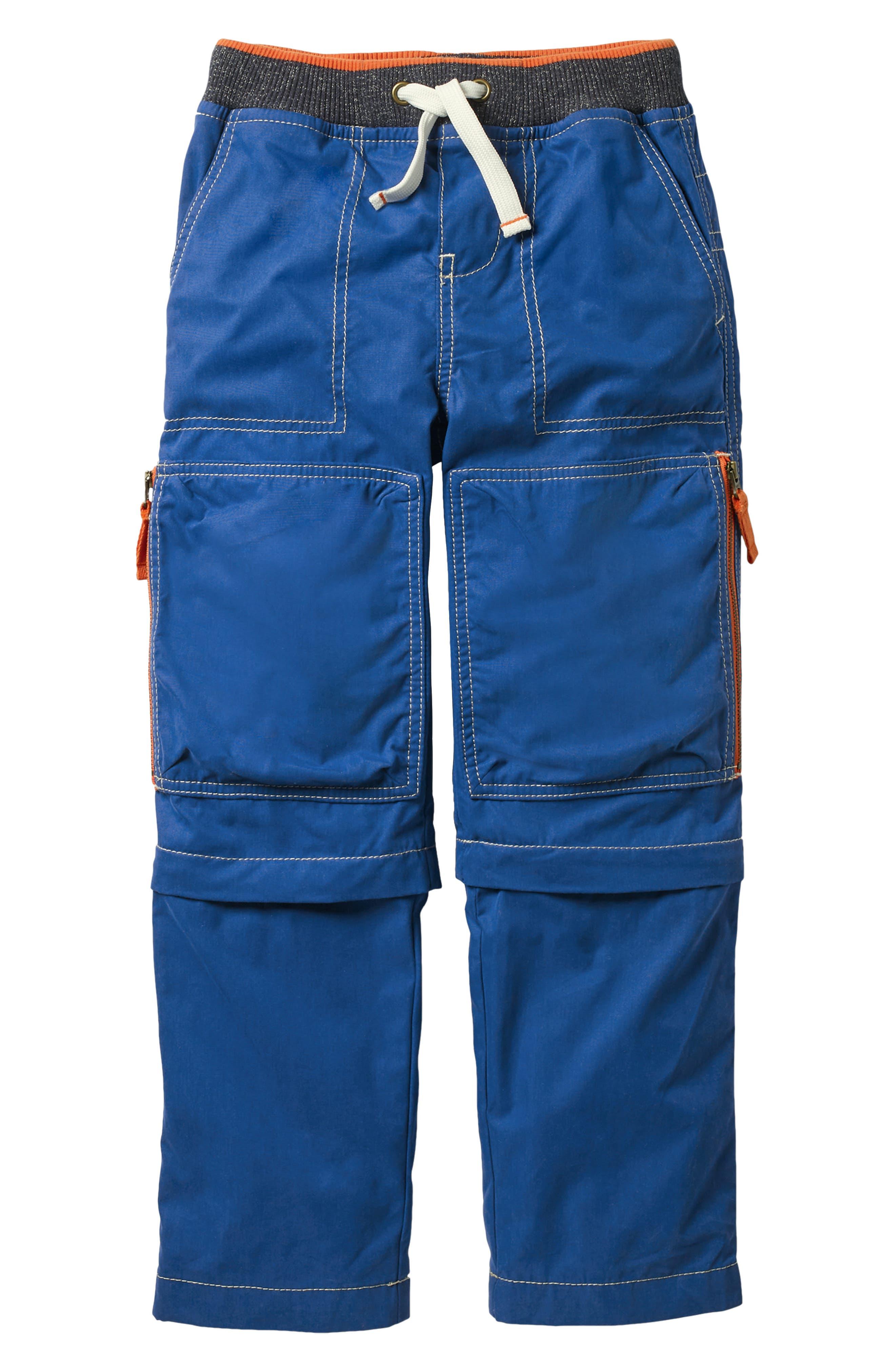 Techno Convertible Zip Off Pants,                         Main,                         color, Orion Blue