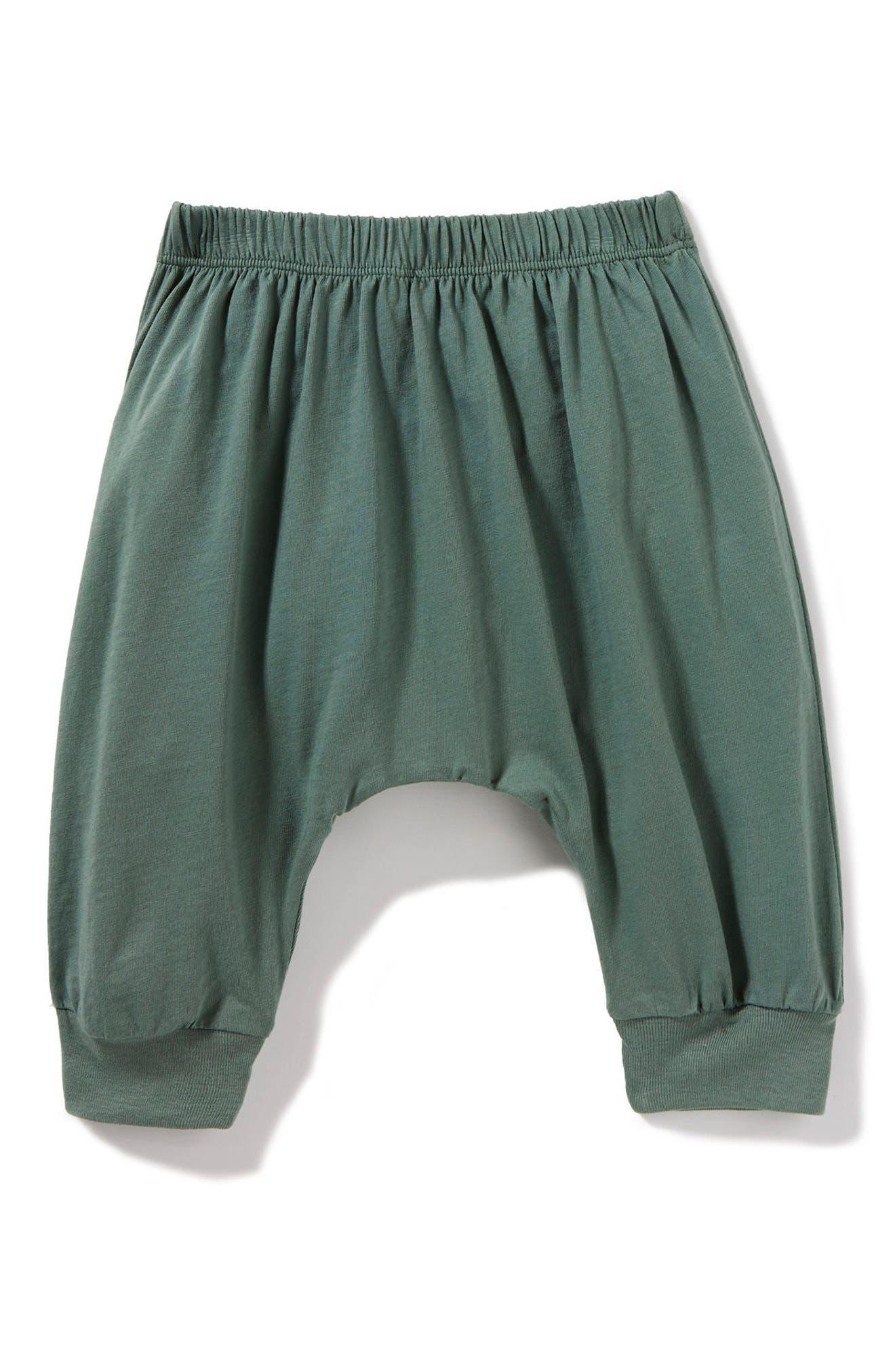 Peek Little Peanut Happy Pants,                         Main,                         color, Sage
