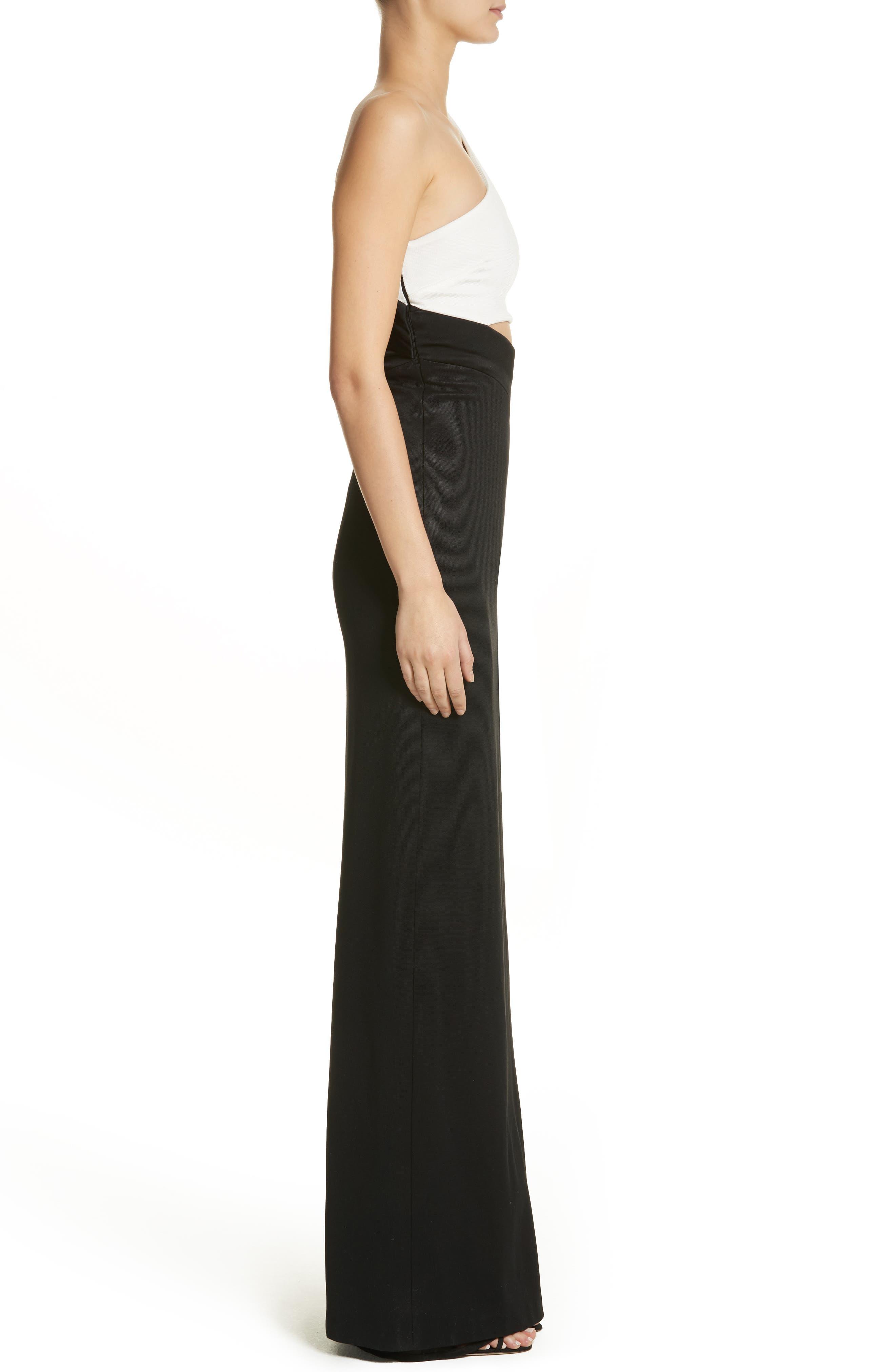 Alternate Image 3  - Galvan One-Shoulder Colorblock Gown