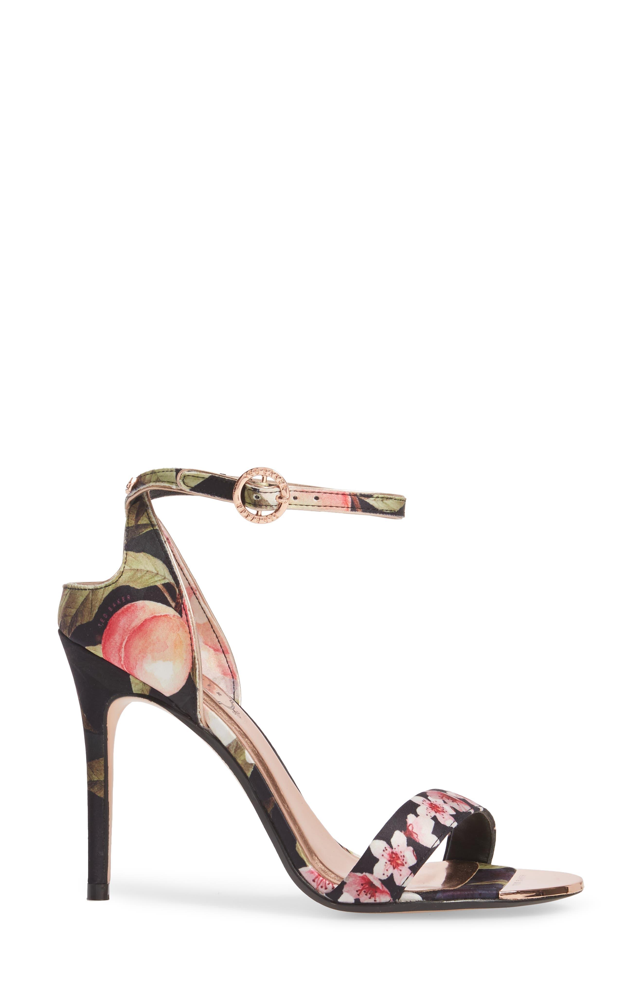Mirobep Sandal,                             Alternate thumbnail 3, color,                             Peach Blossom Black Satin