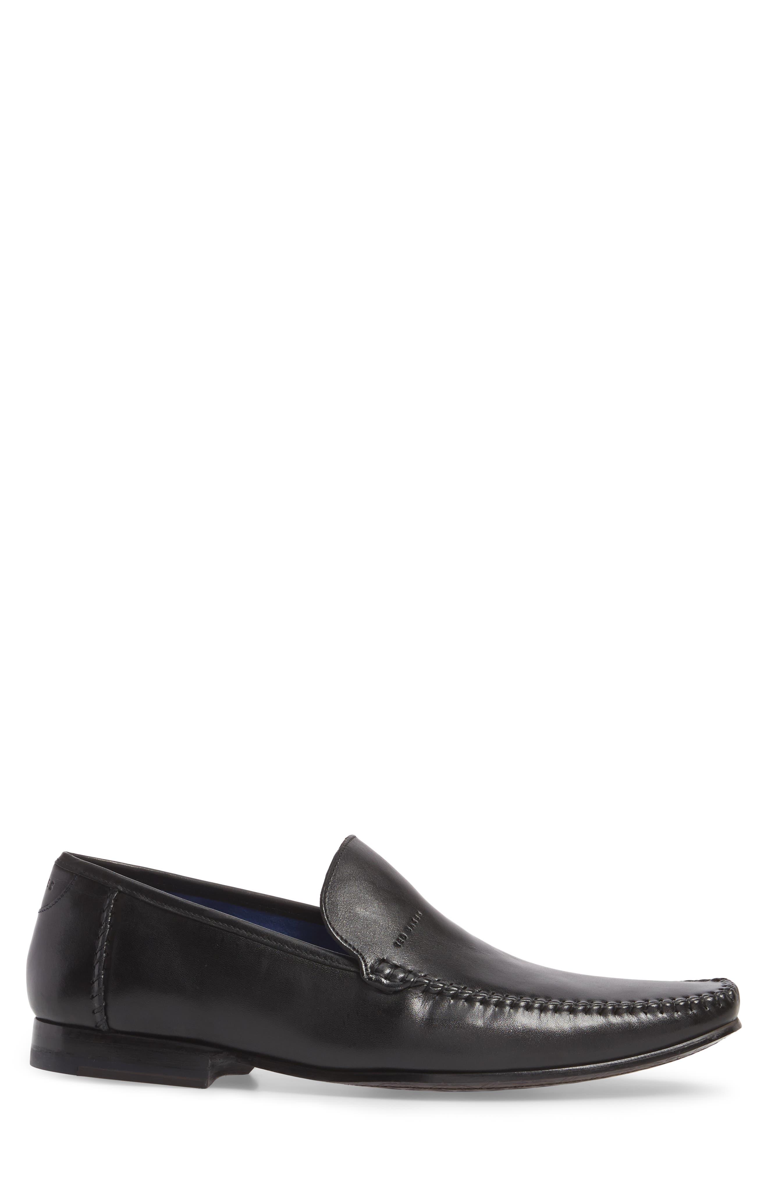 Bly 9 Venetian Loafer,                             Alternate thumbnail 3, color,                             Black Leather