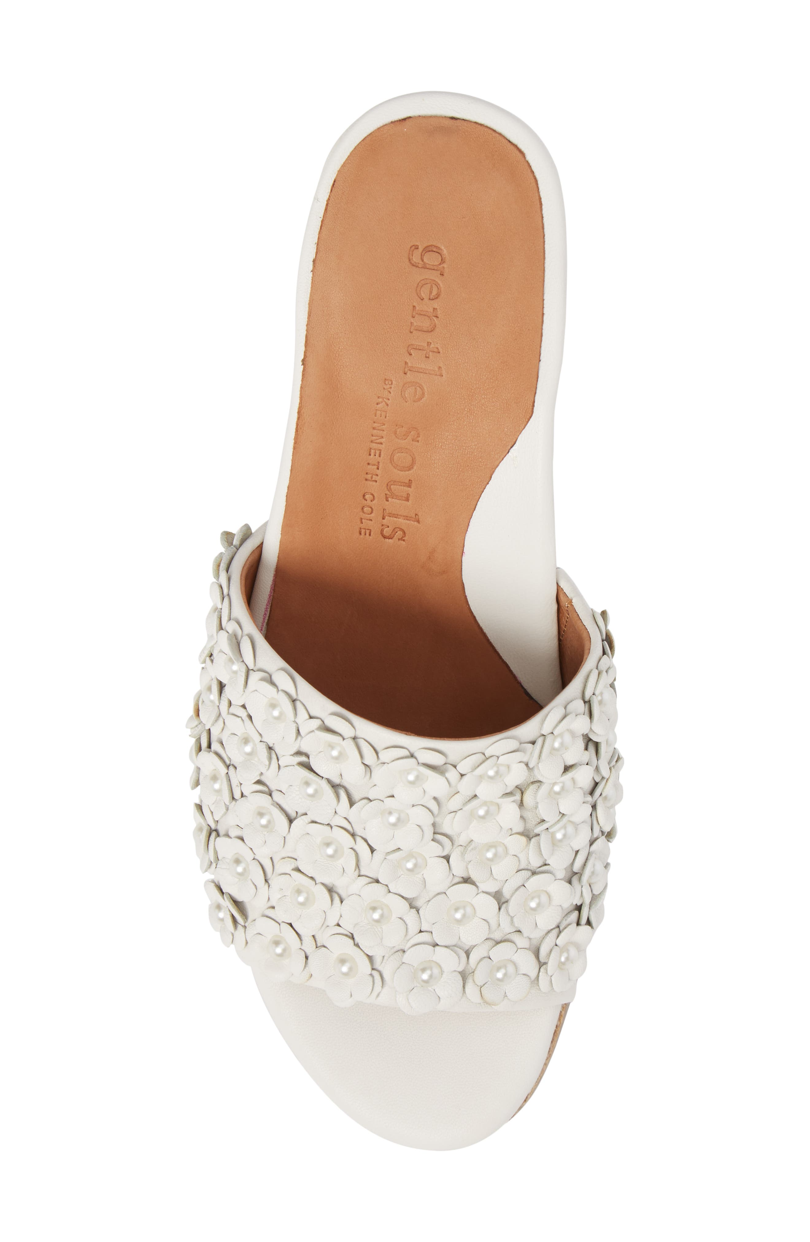 by Kenneth Cole Chantel Sandal,                             Alternate thumbnail 5, color,                             White Flowers Leather
