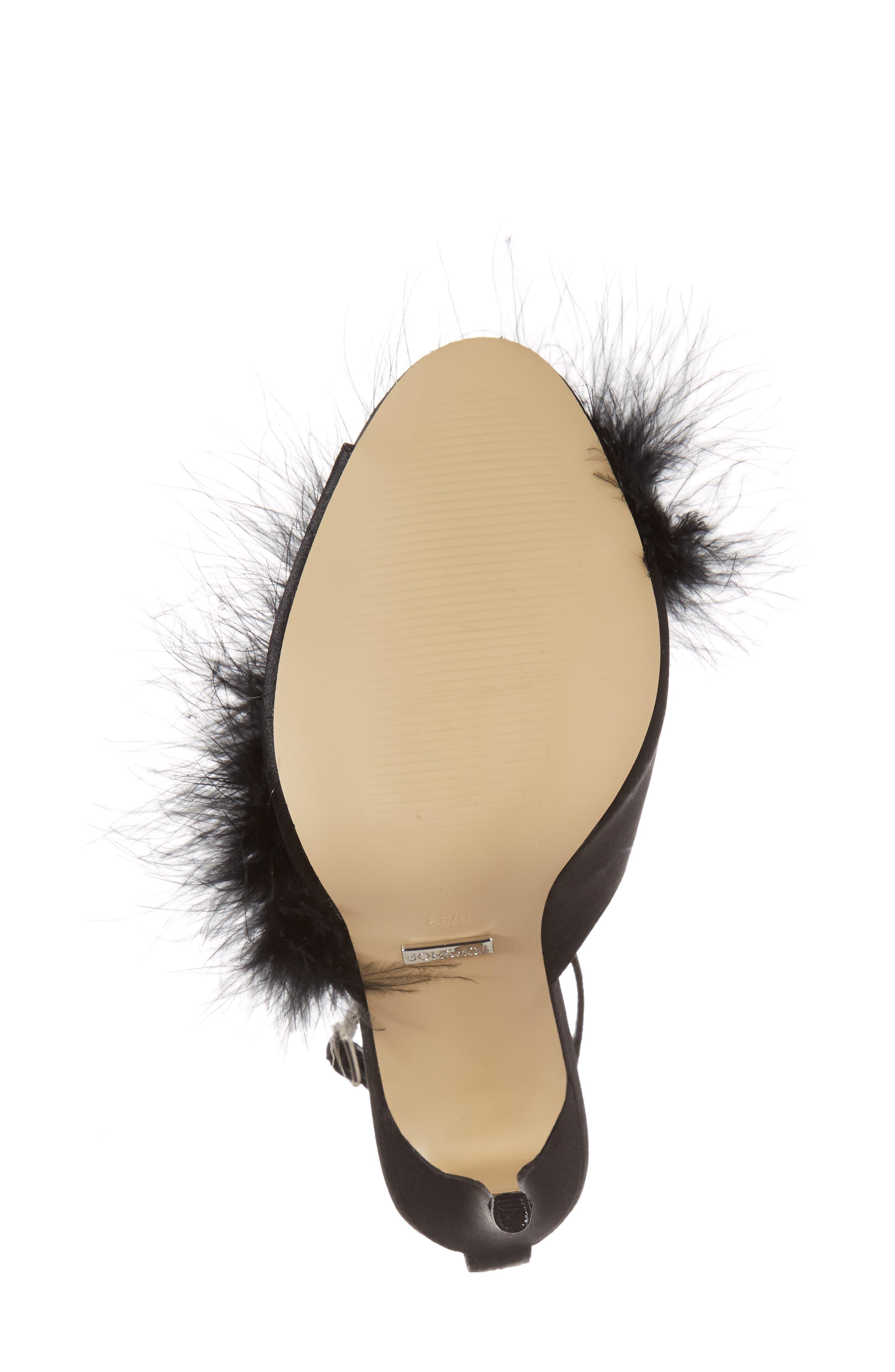 Roar Feather Sandal,                             Alternate thumbnail 6, color,                             Black