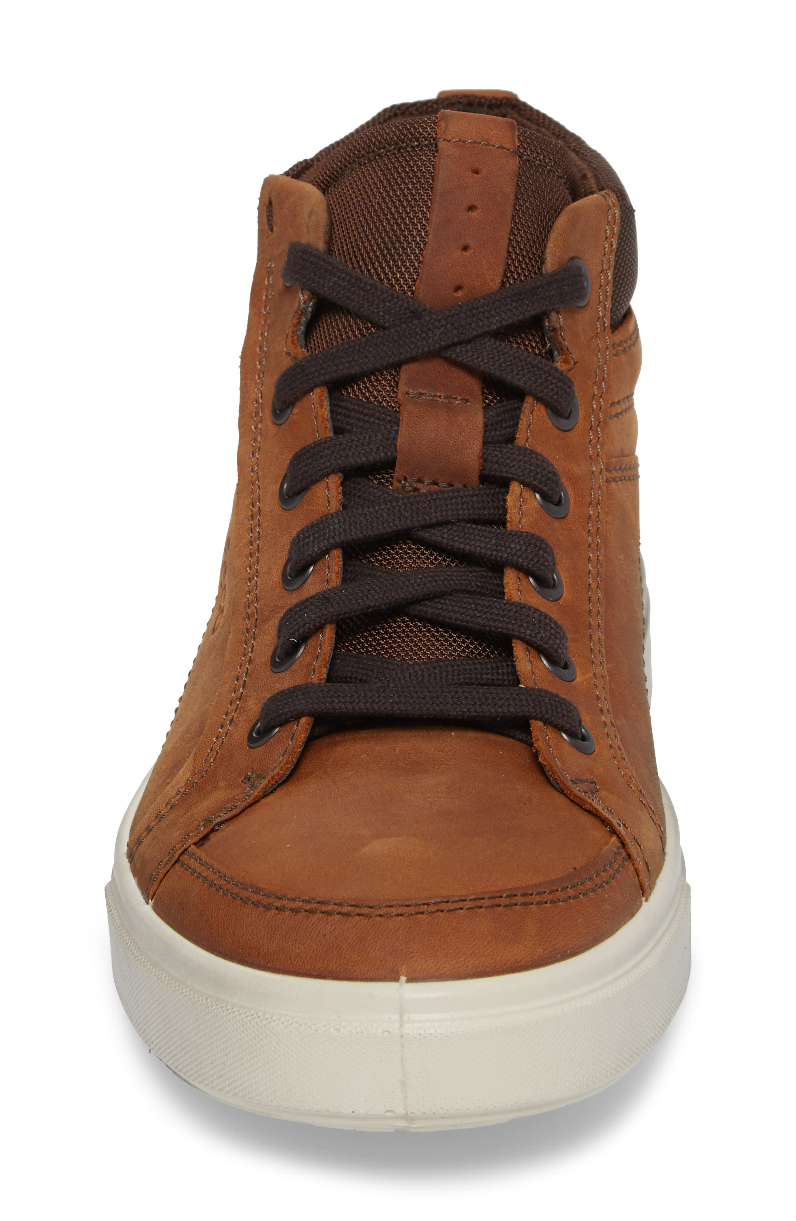 Kyle Sneaker,                             Alternate thumbnail 4, color,                             Amber Leather