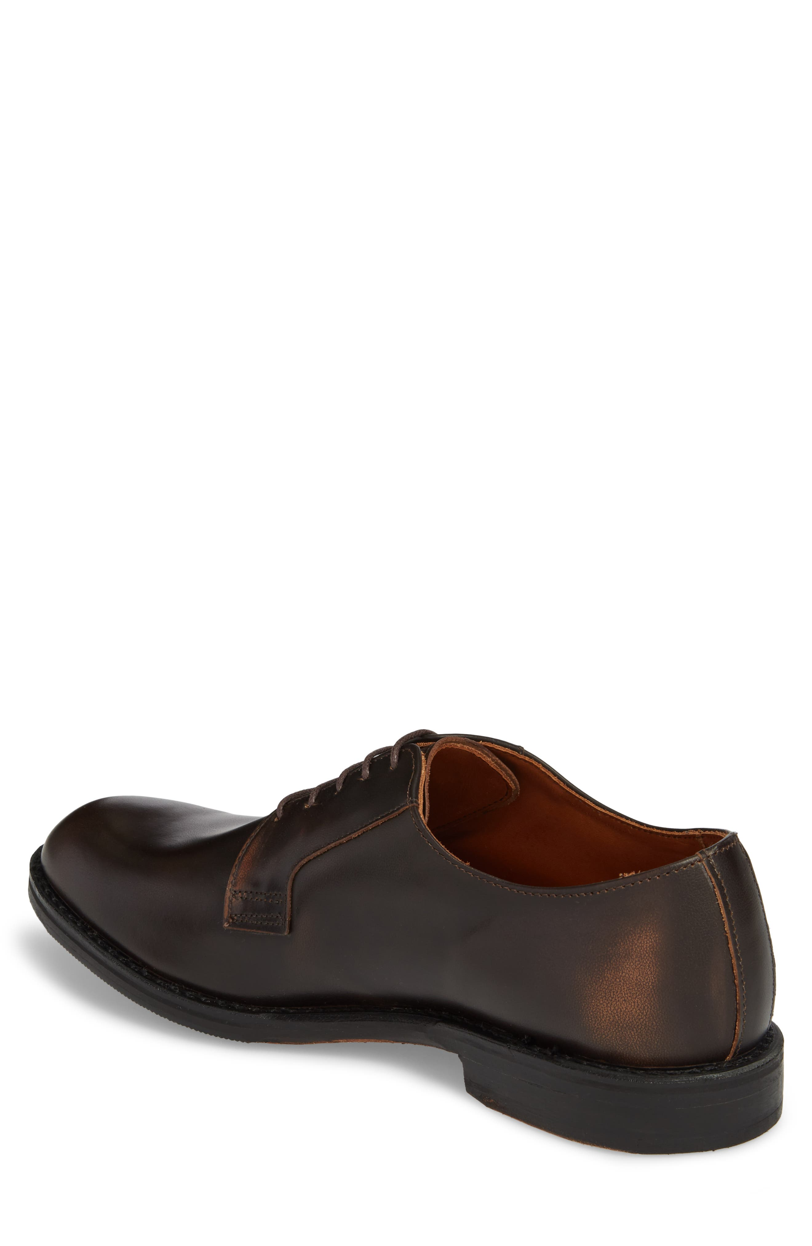 Whitney Plain Toe Derby,                             Alternate thumbnail 2, color,                             Brown Leather