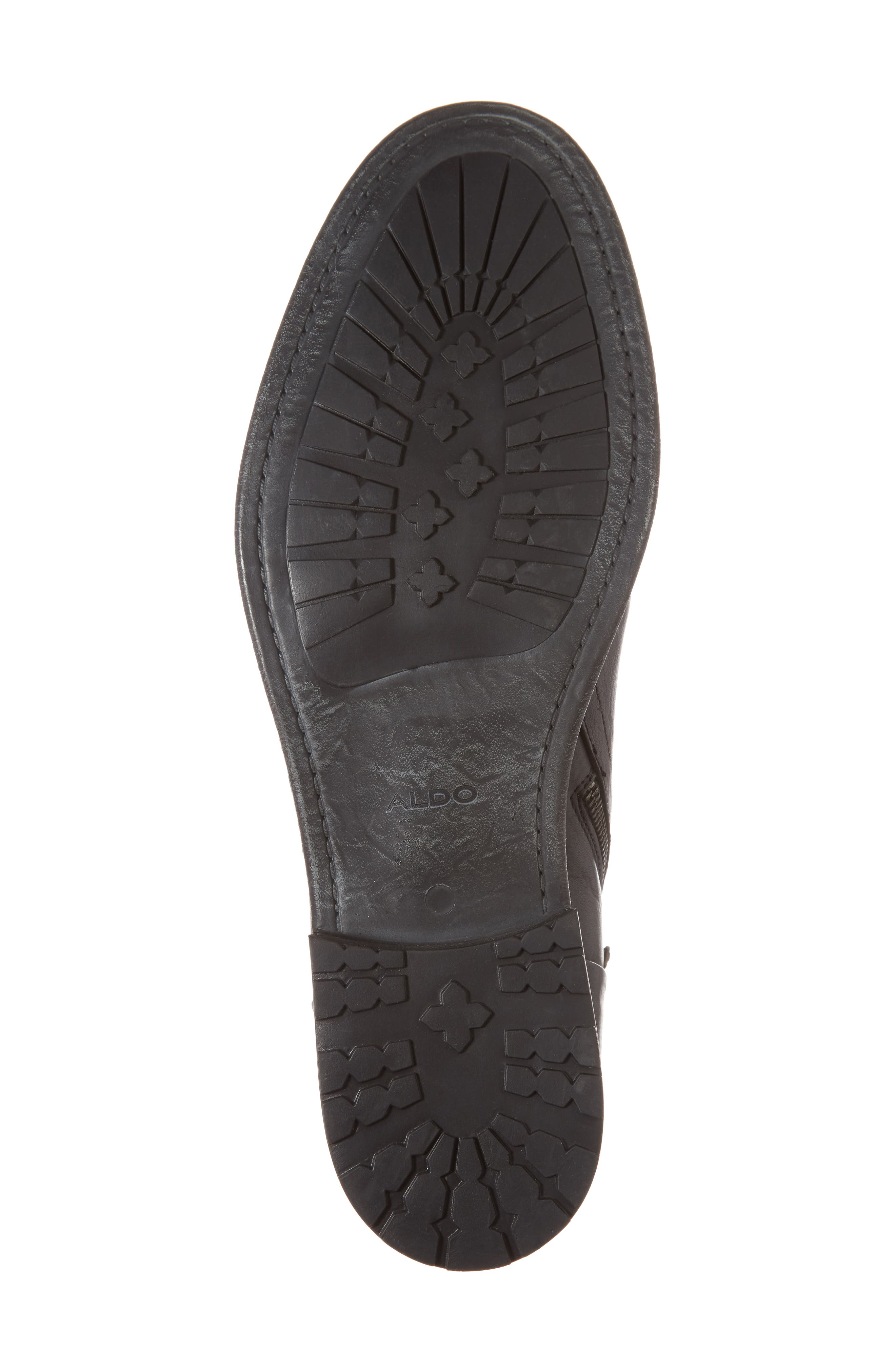 Gerone Zip Boot,                             Alternate thumbnail 6, color,                             Black Leather Fabric
