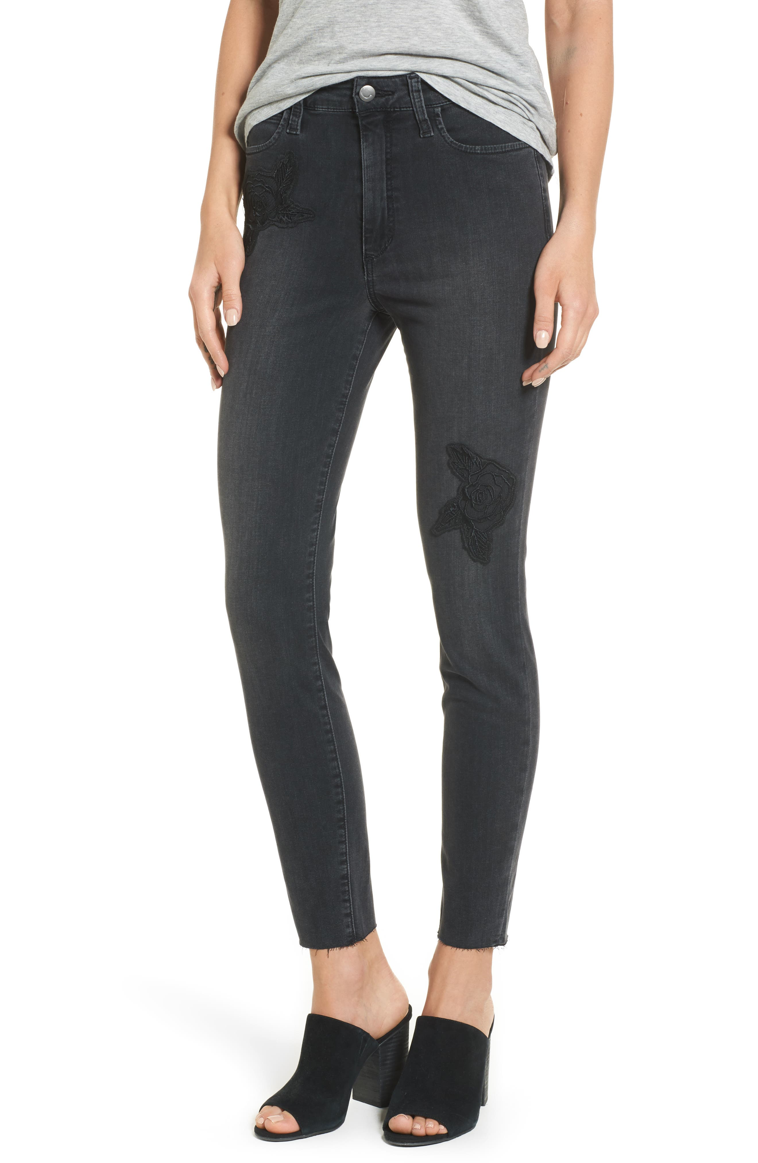 Charlie High Waist Ankle Skinny Jeans,                         Main,                         color, Sonata
