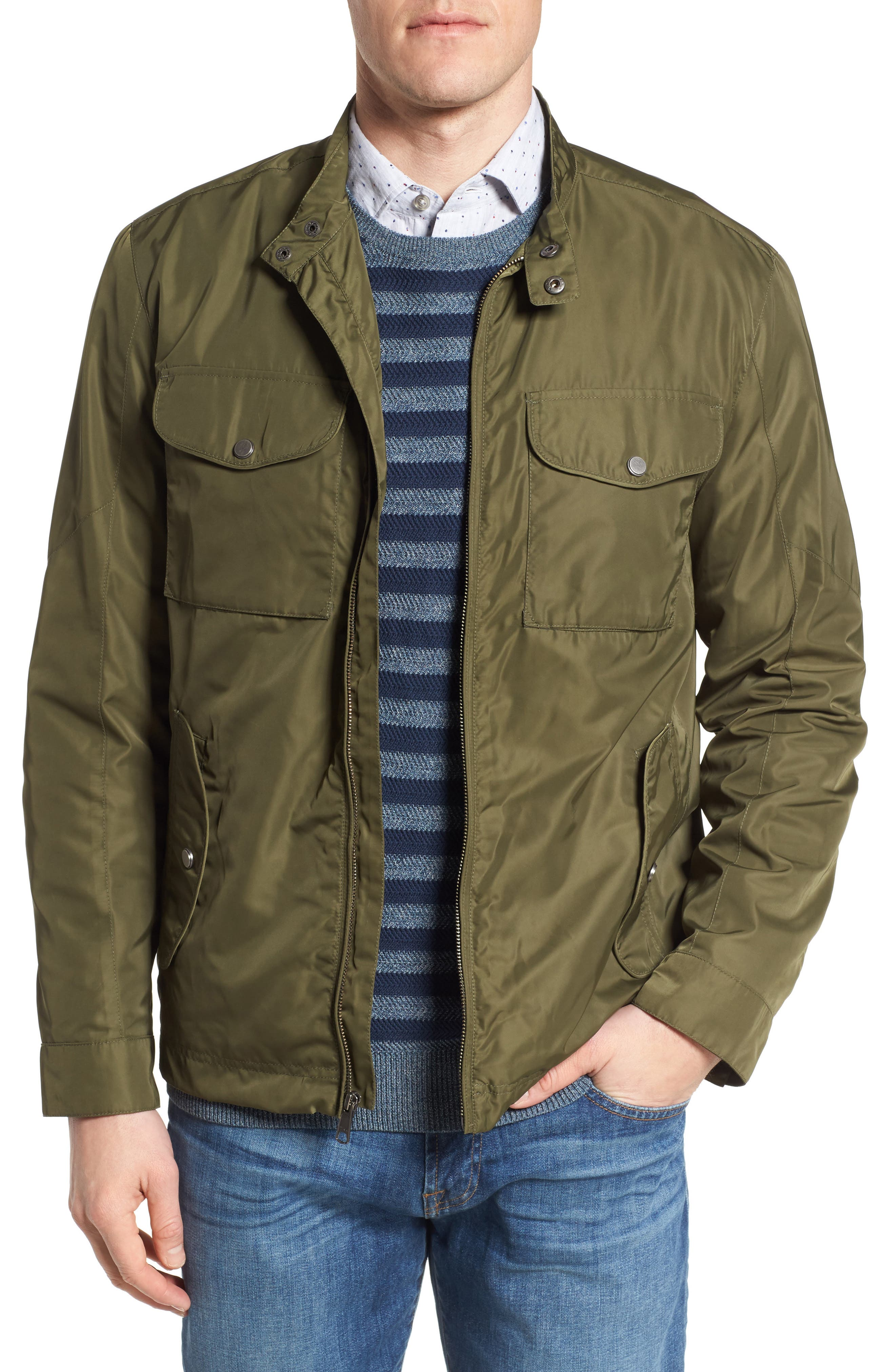 Utility Jacket,                             Main thumbnail 1, color,                             Green Bronze