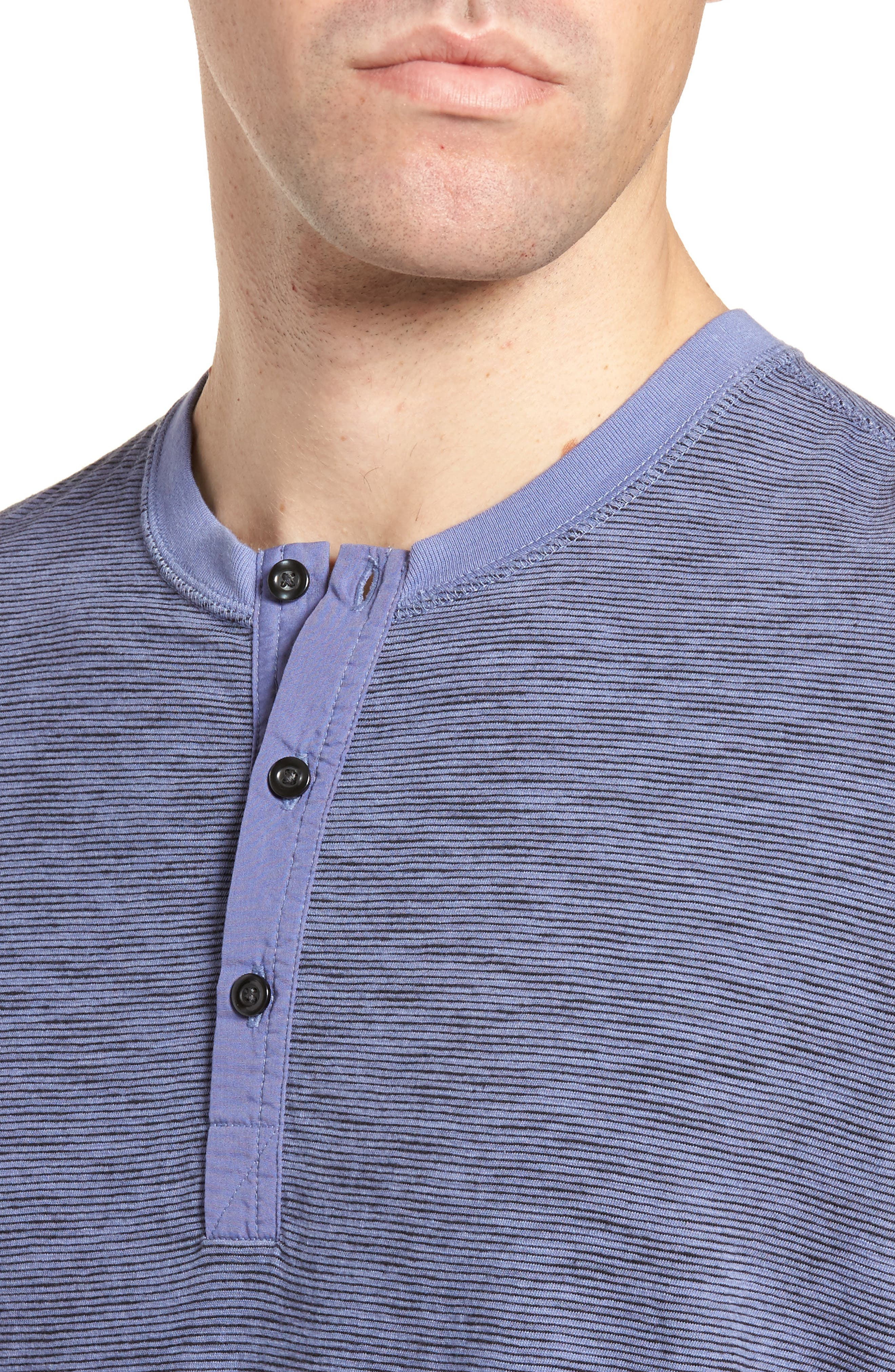 Garment Dyed Henley,                             Alternate thumbnail 4, color,                             Periwinkle