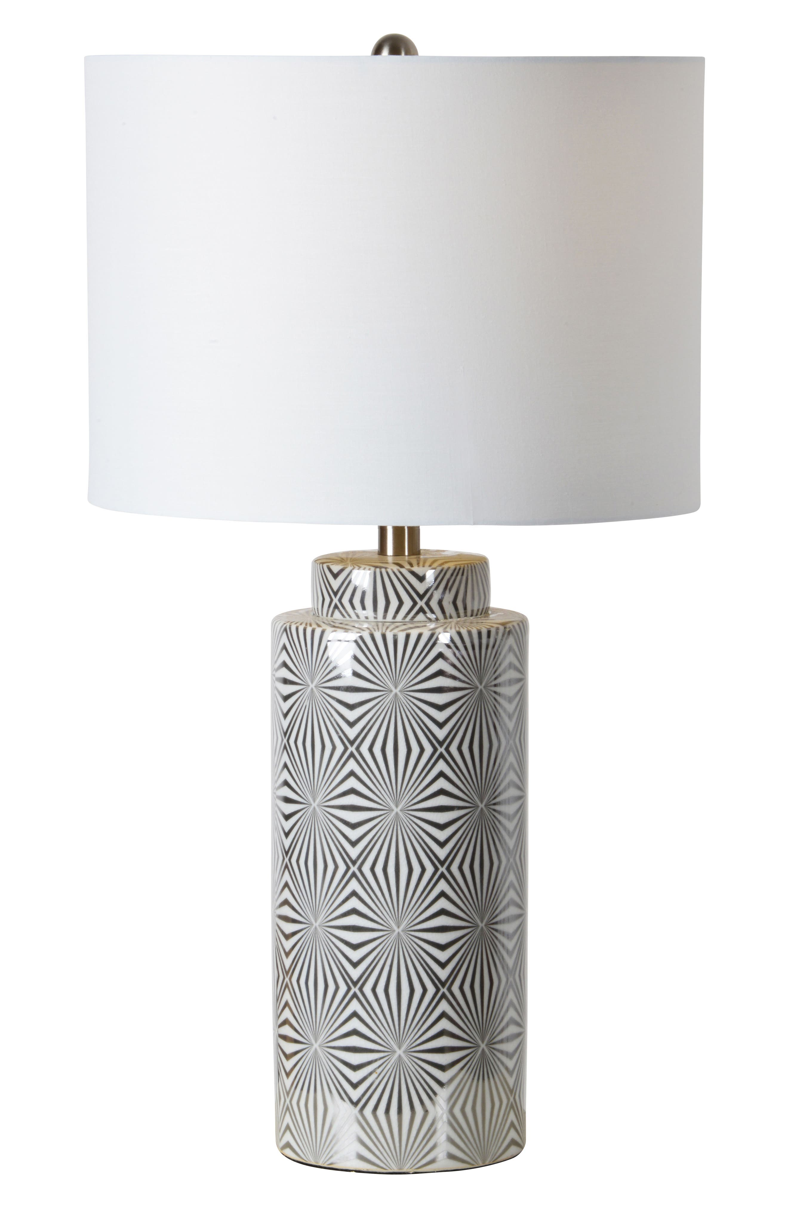 Camden Table Lamp,                             Main thumbnail 1, color,                             Silver/ White