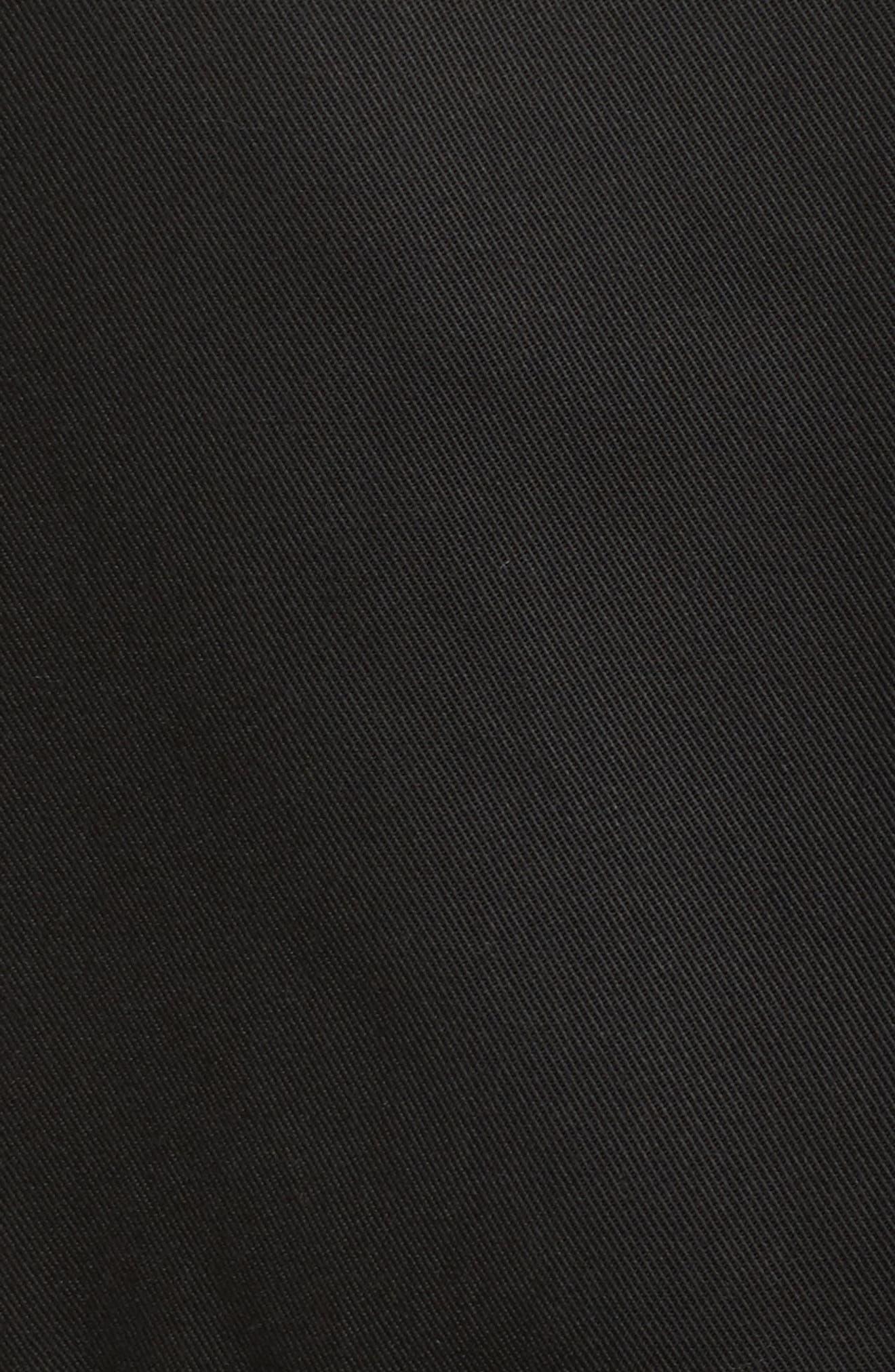 Ruffle Wrap Dress,                             Alternate thumbnail 5, color,                             Black
