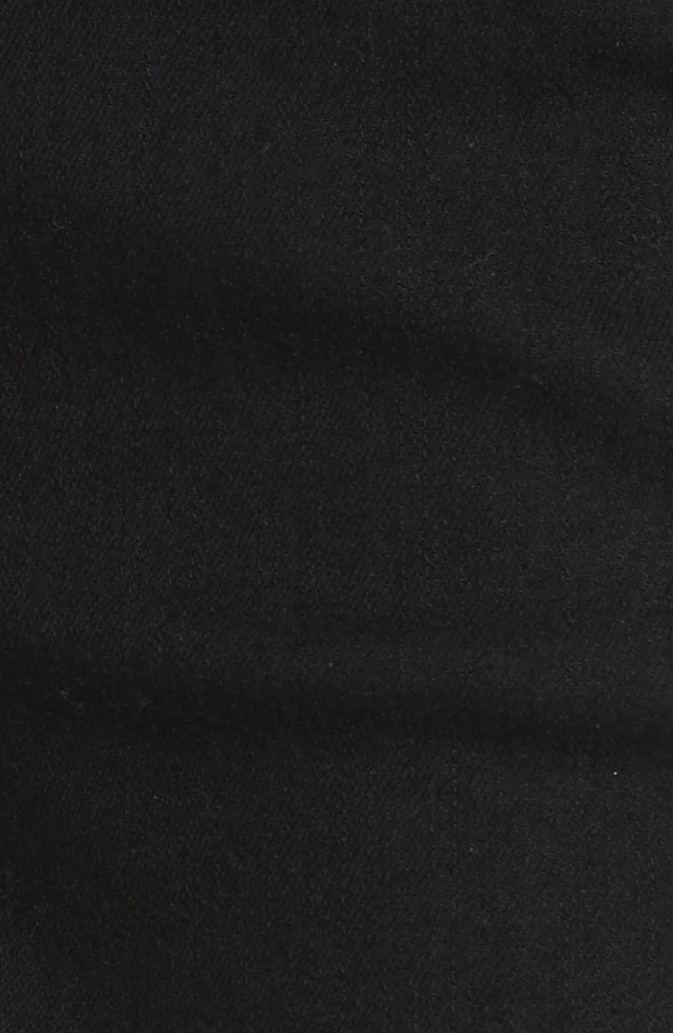 W4 Adeline High Waist Split Flare Jeans,                             Alternate thumbnail 5, color,                             Black No 1