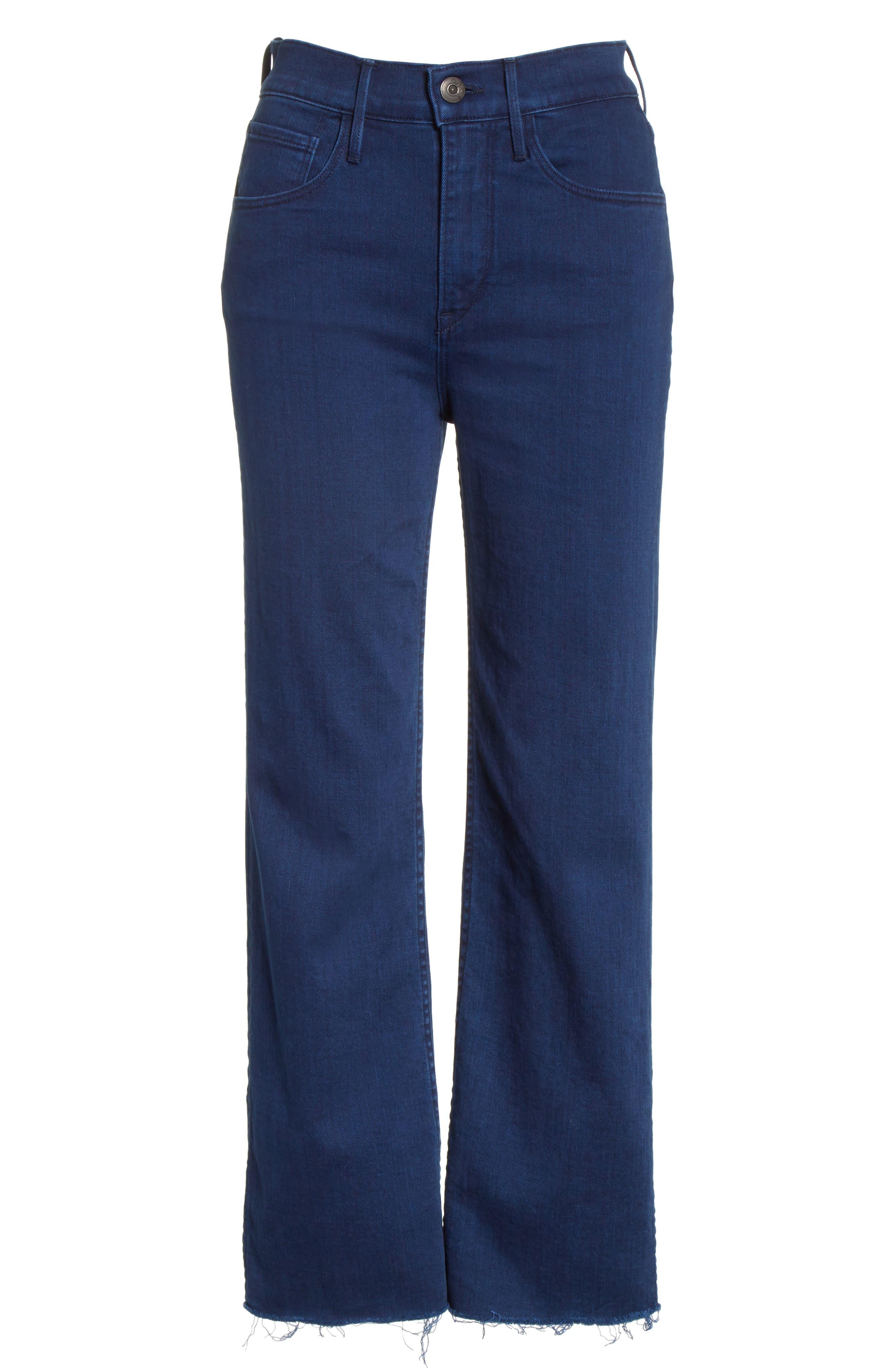 W4 Shelter Crop Wide Leg Jeans,                             Alternate thumbnail 6, color,                             Arrow