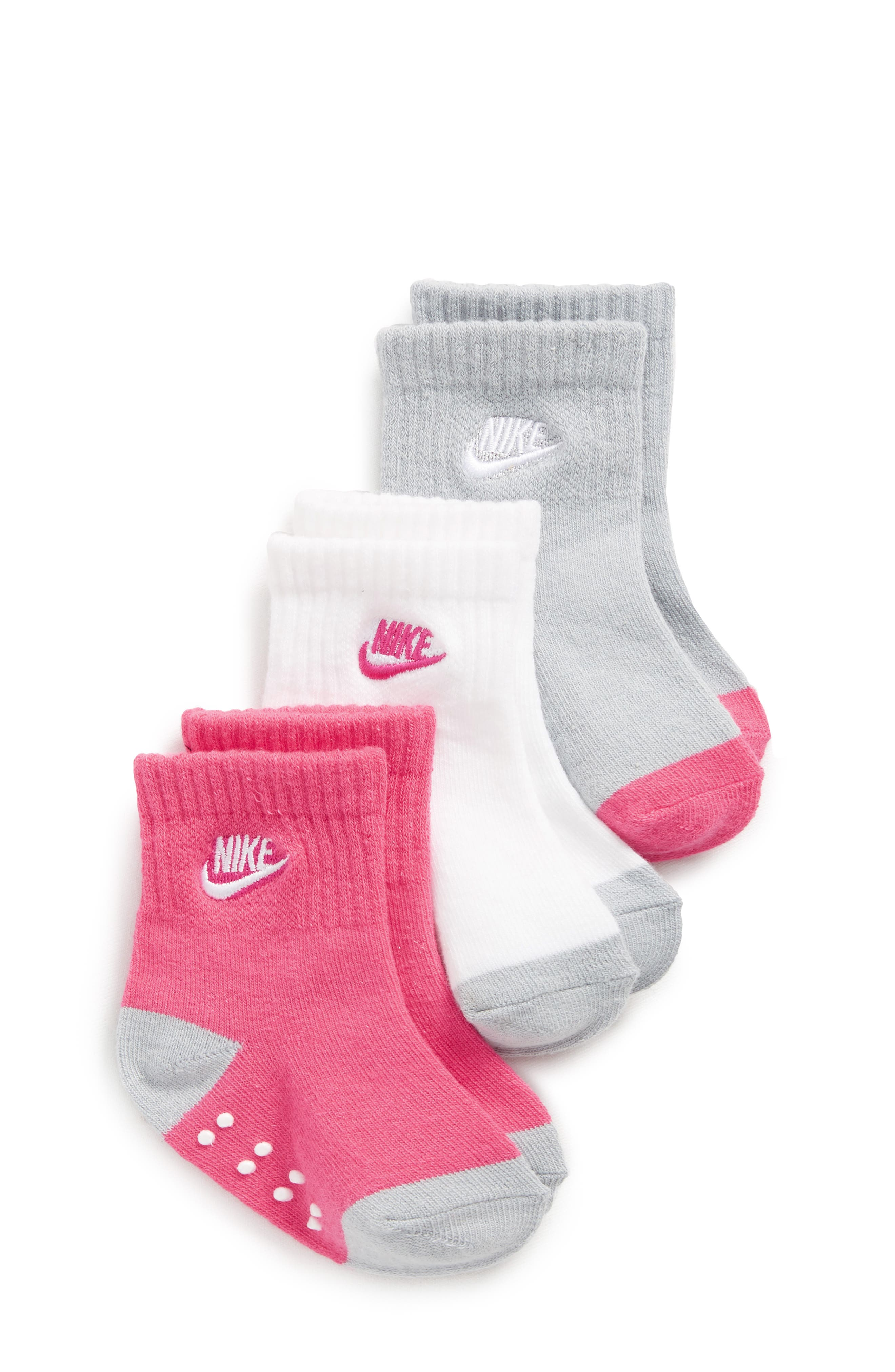 Nike 3-Pack Crawl Gripper Crew Socks (Baby & Walker)