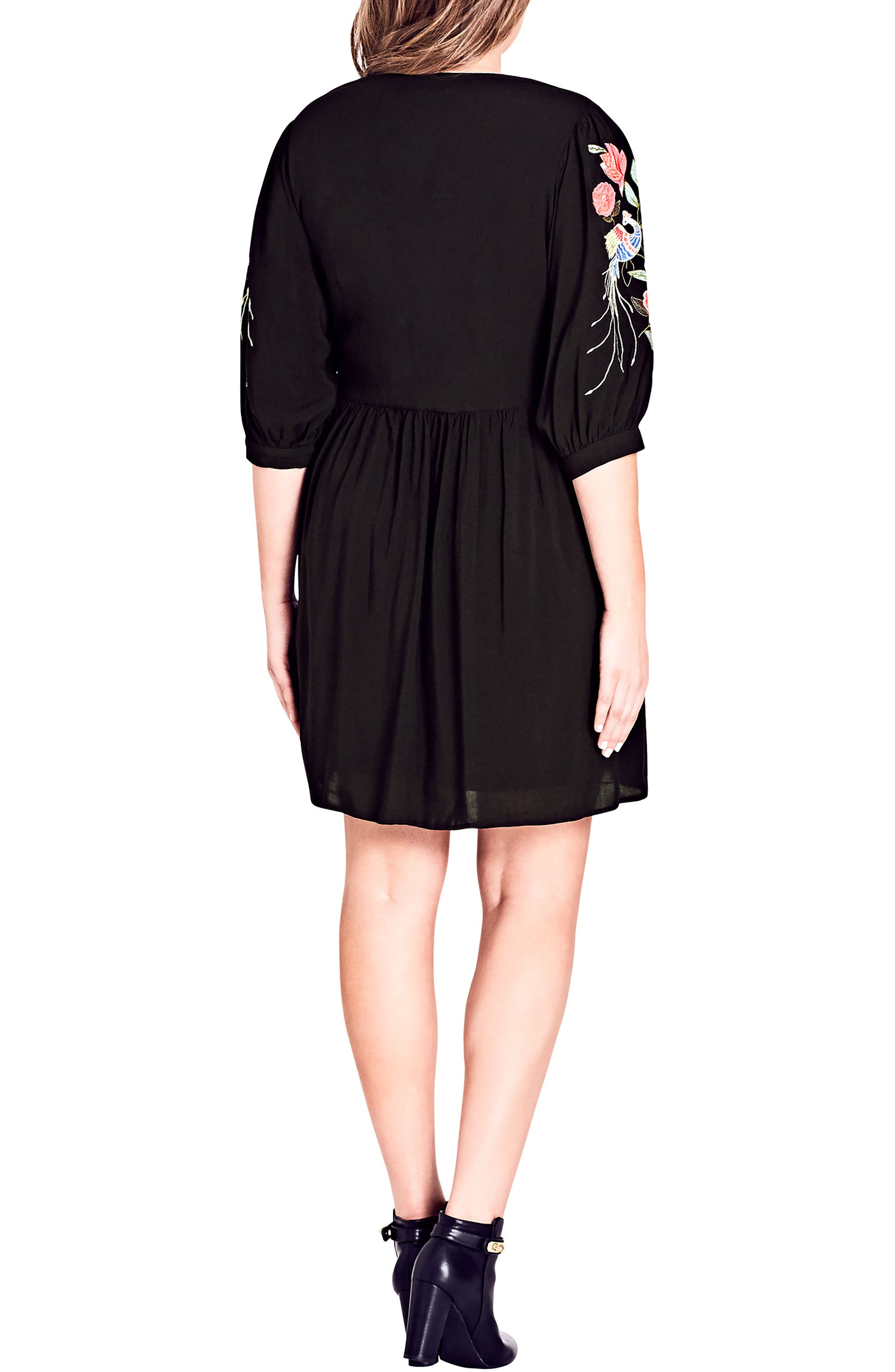 Phoenix Dress,                             Alternate thumbnail 2, color,                             Black