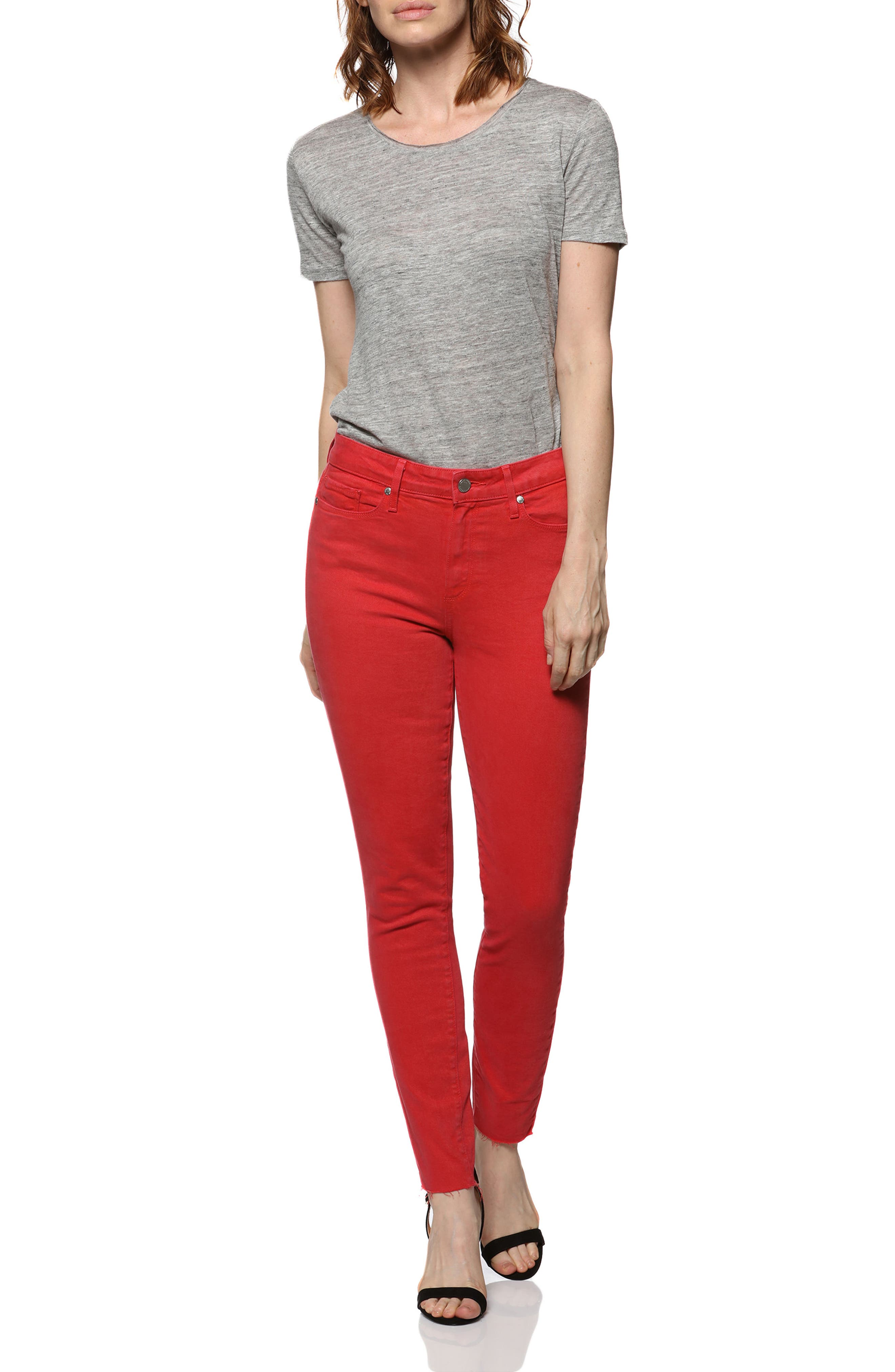 Hoxton High Waist Ankle Skinny Jeans,                             Alternate thumbnail 2, color,                             Vintage Cherry Bomb