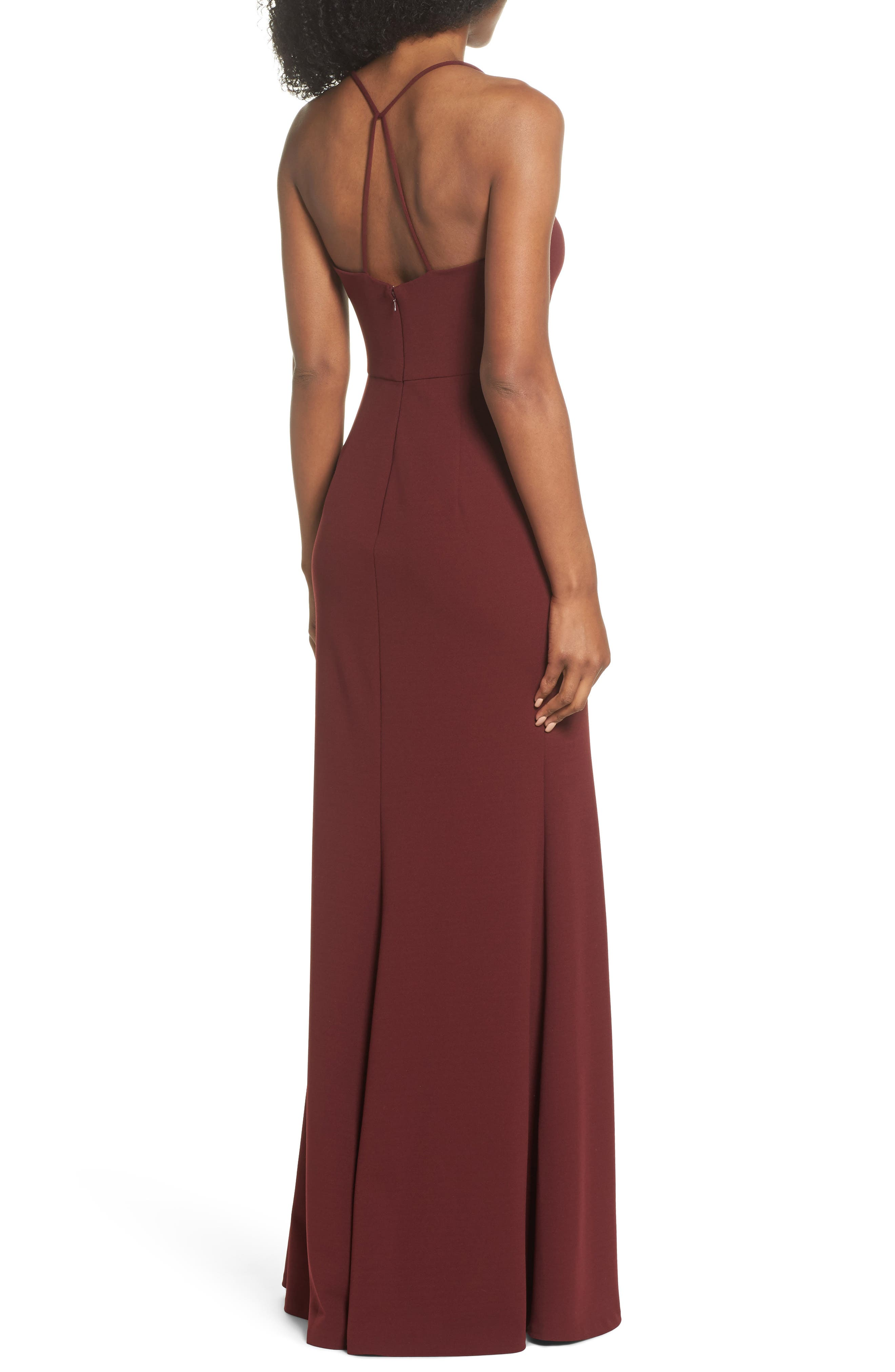 Alternate Image 2  - Jenny Yoo Reese Crepe Knit Gown