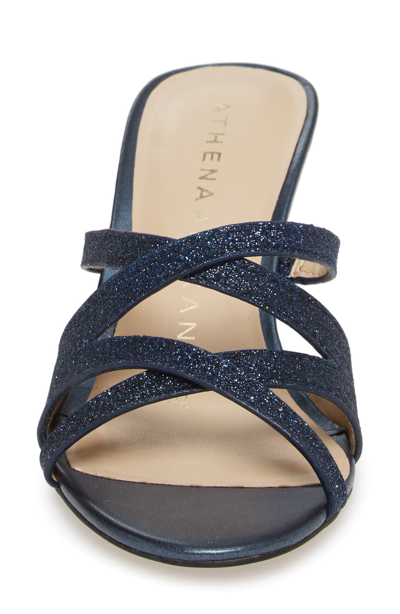 Starlite Sandal,                             Alternate thumbnail 4, color,                             Navy Fabric