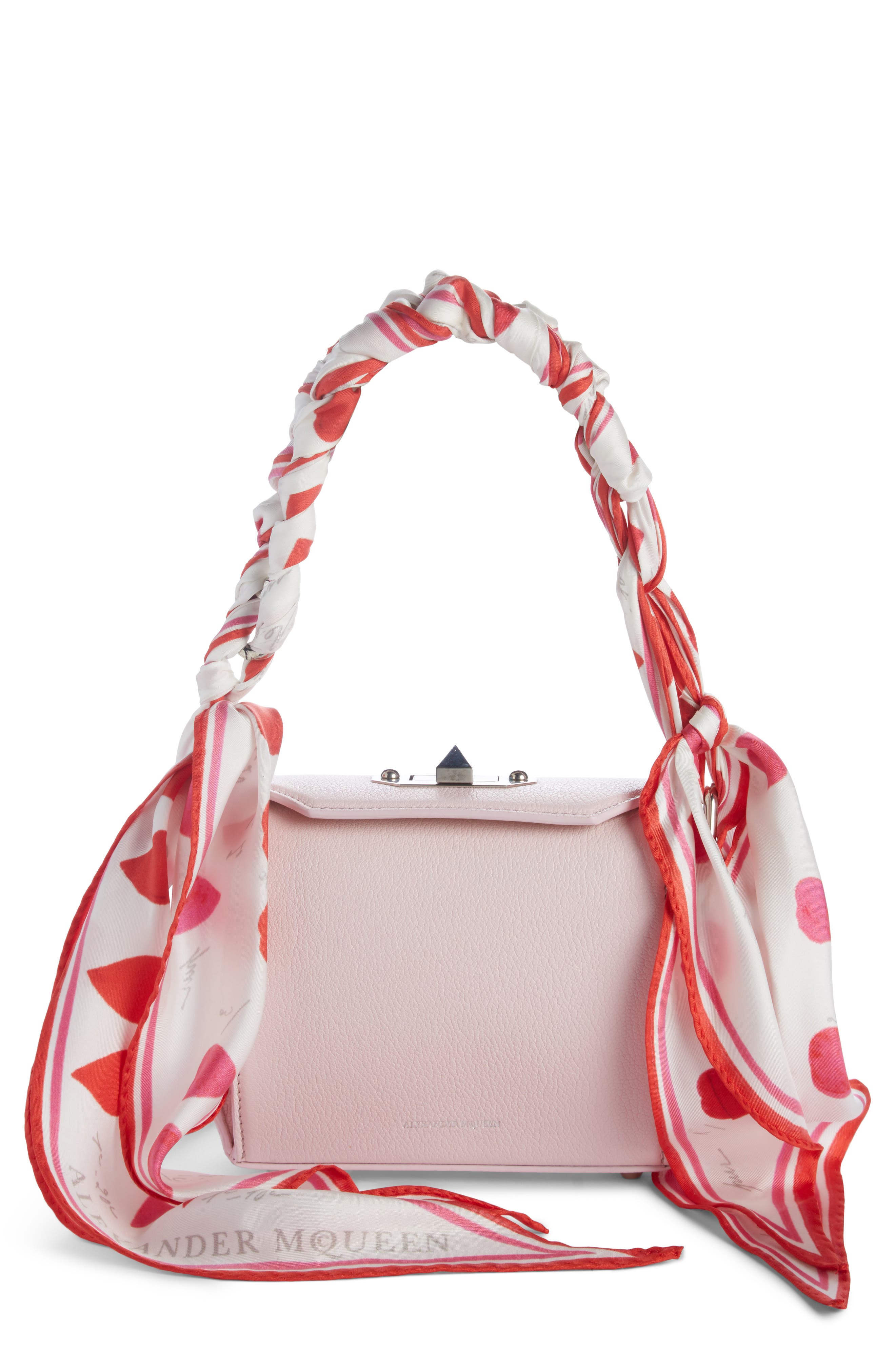 Box Bag 16 Leather Bag,                         Main,                         color, Baby Pink/ Ivory