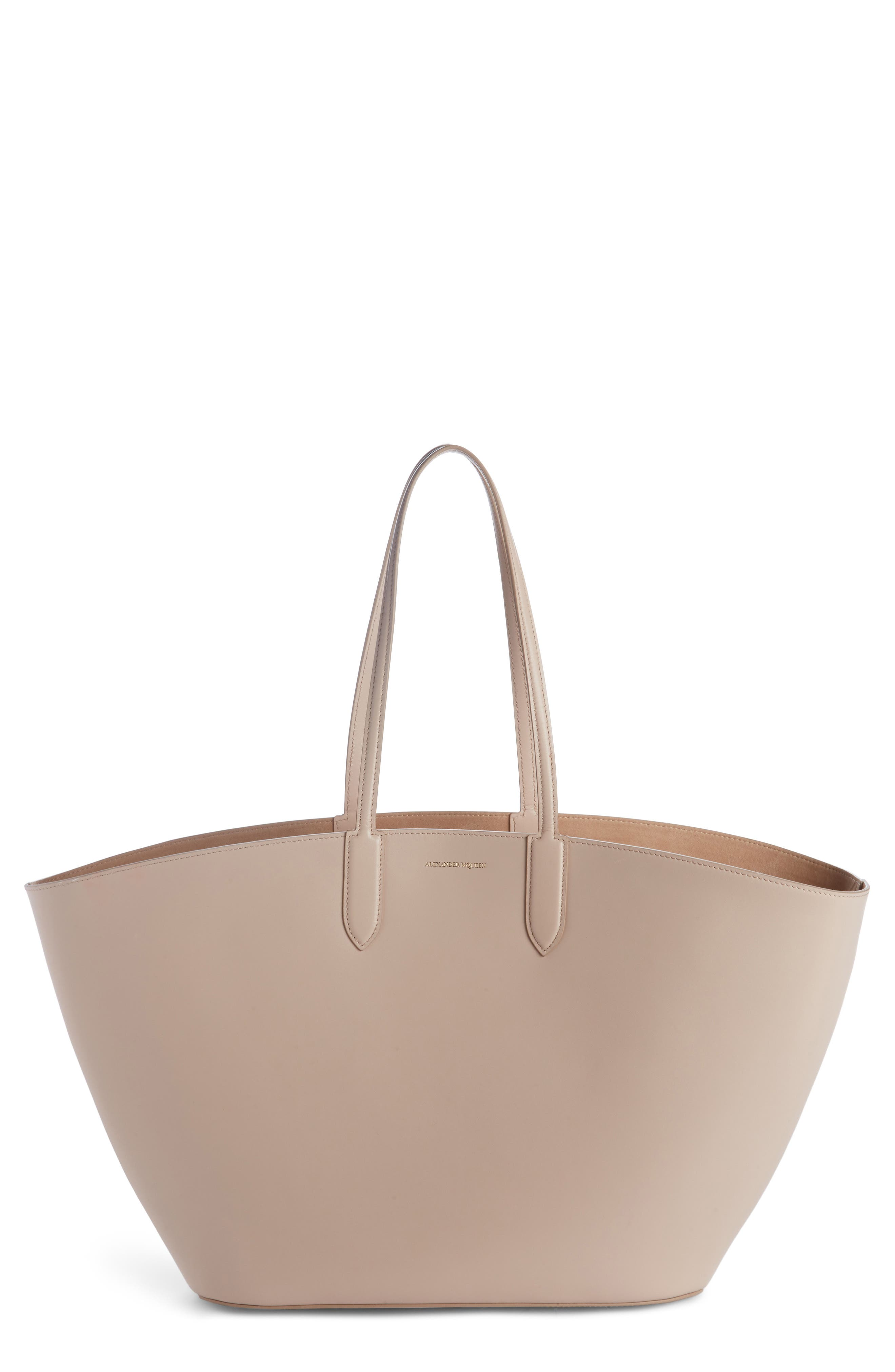 Alexander McQueen East/West Calfskin Leather Tote