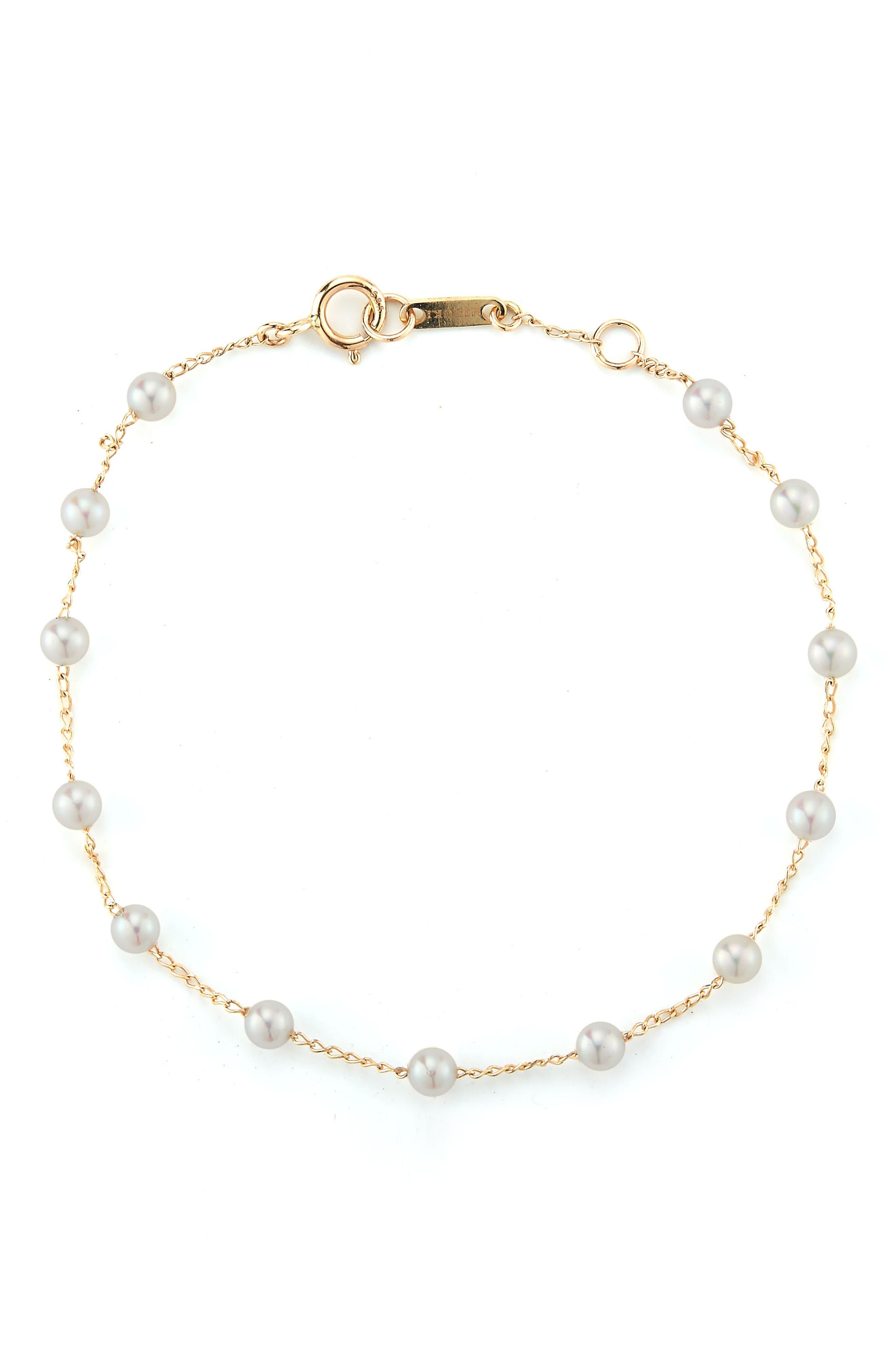 Mizuki Genuine Pearl Station Bracelet