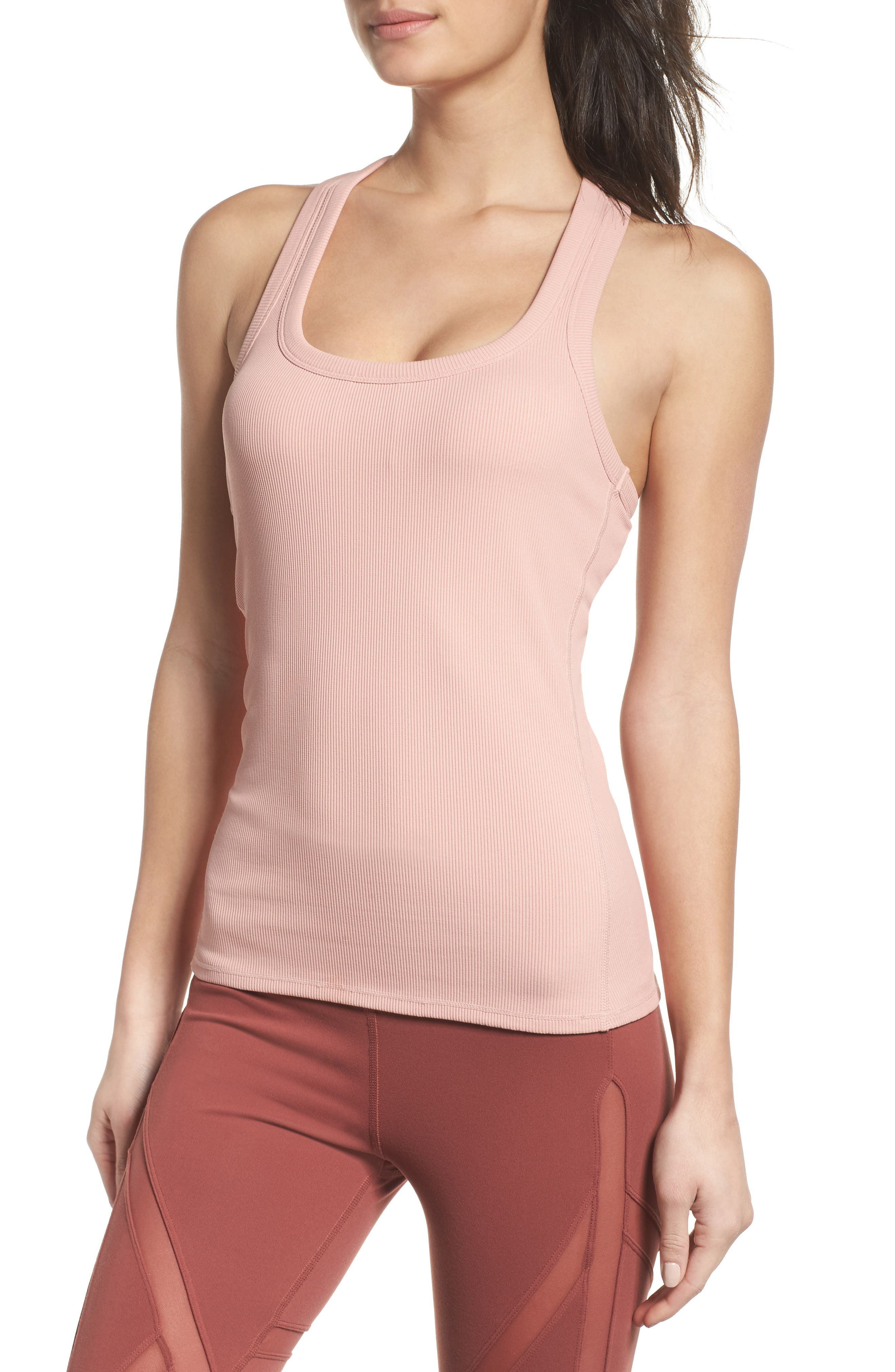 Alternate Image 1 Selected - Alo Support Ribbed Racerback Tank