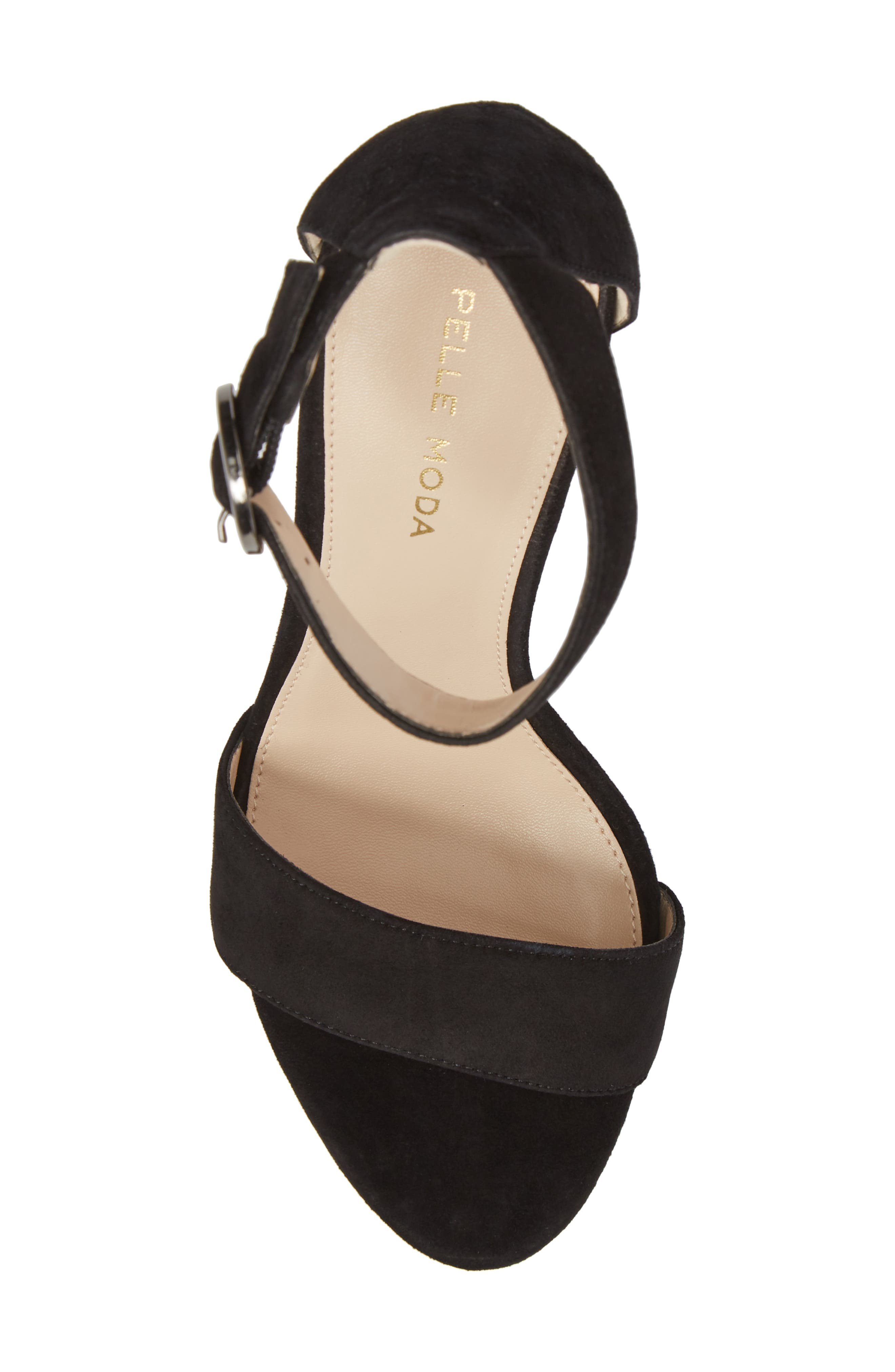 Palo 2 Platform Sandal,                             Alternate thumbnail 5, color,                             Black Suede