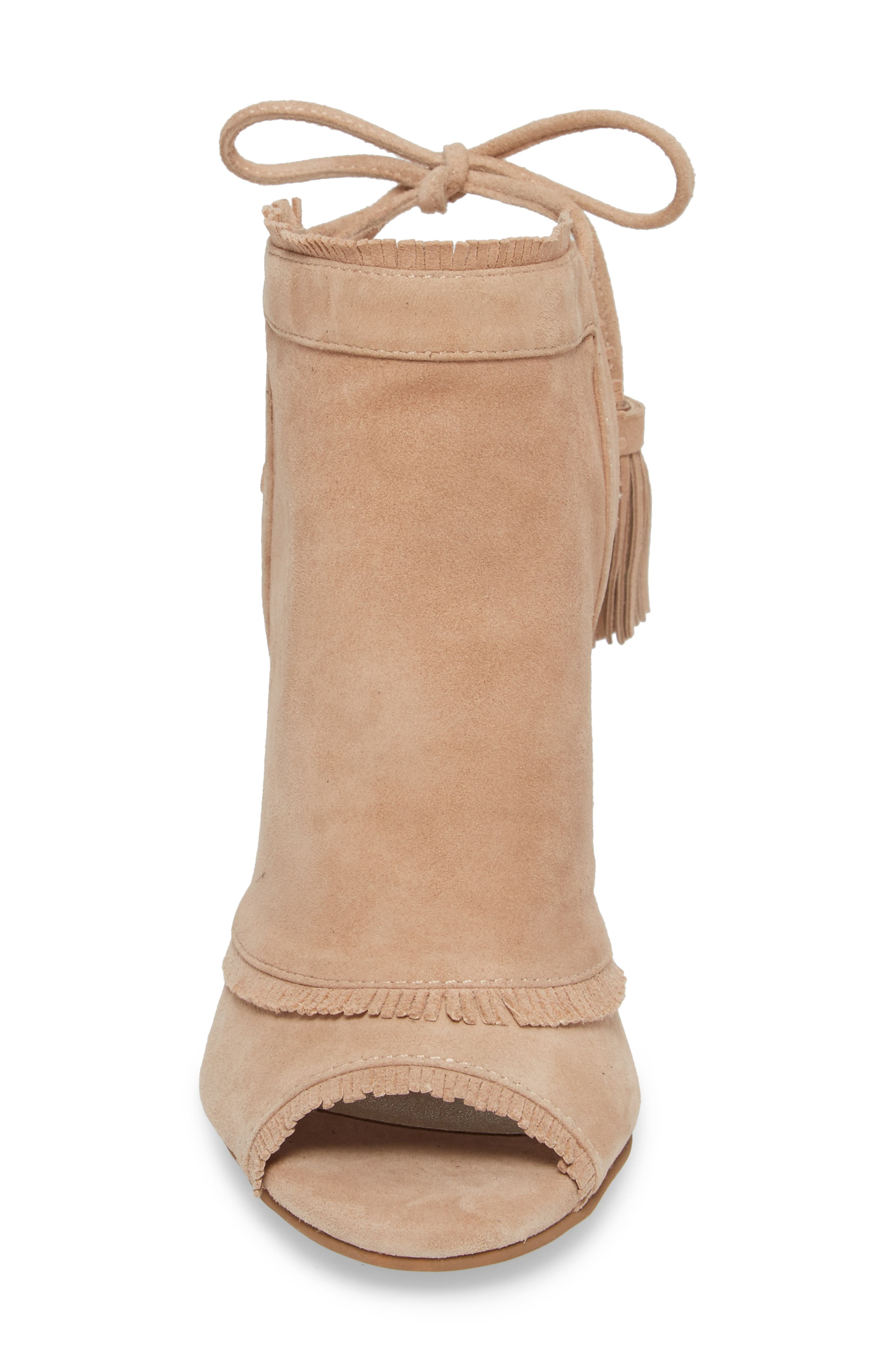 Leilani Wedge,                             Alternate thumbnail 4, color,                             Tigers Eye Suede