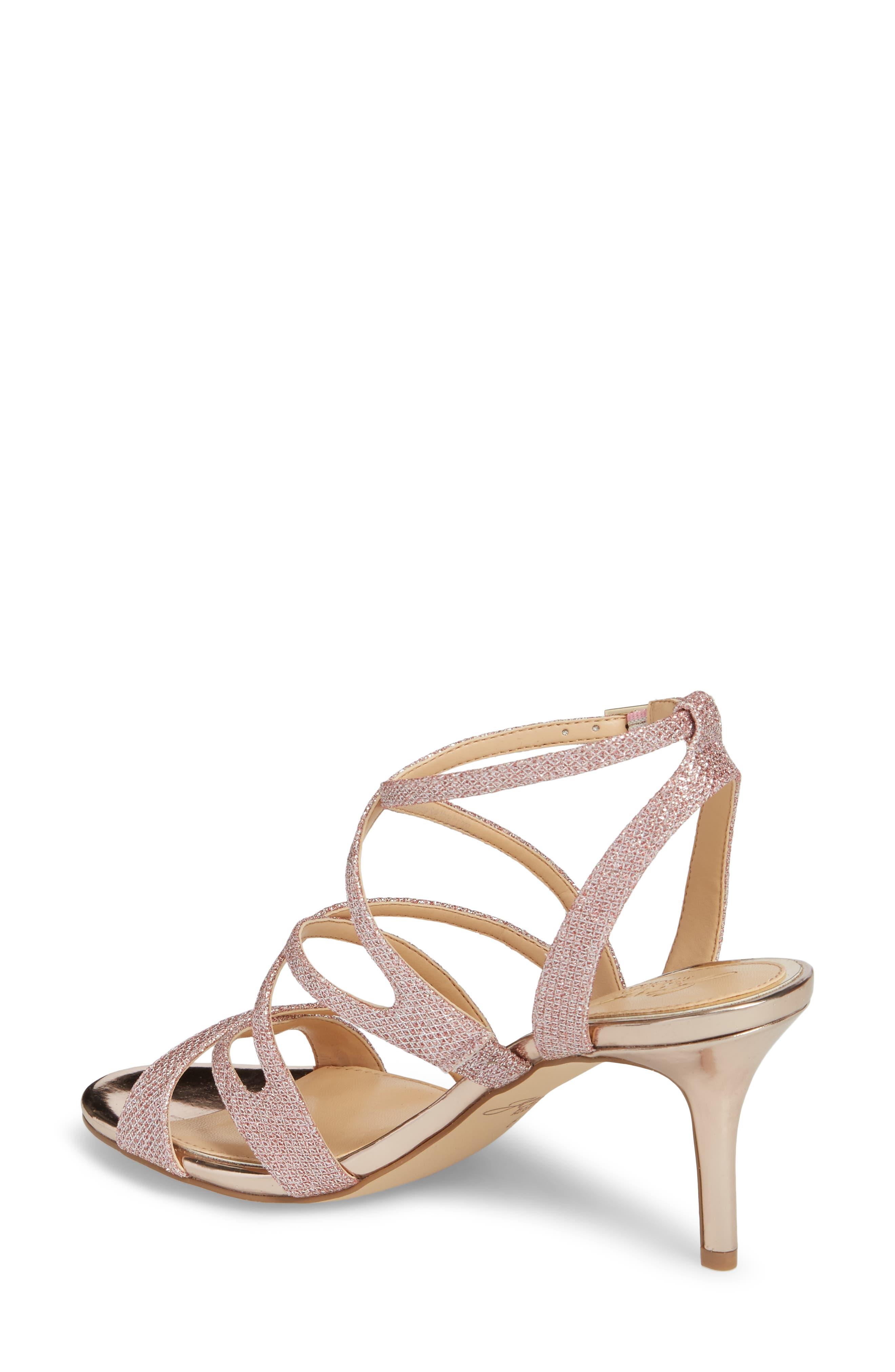Tasha Glitter Sandal,                             Alternate thumbnail 2, color,                             Rose Gold Glitter