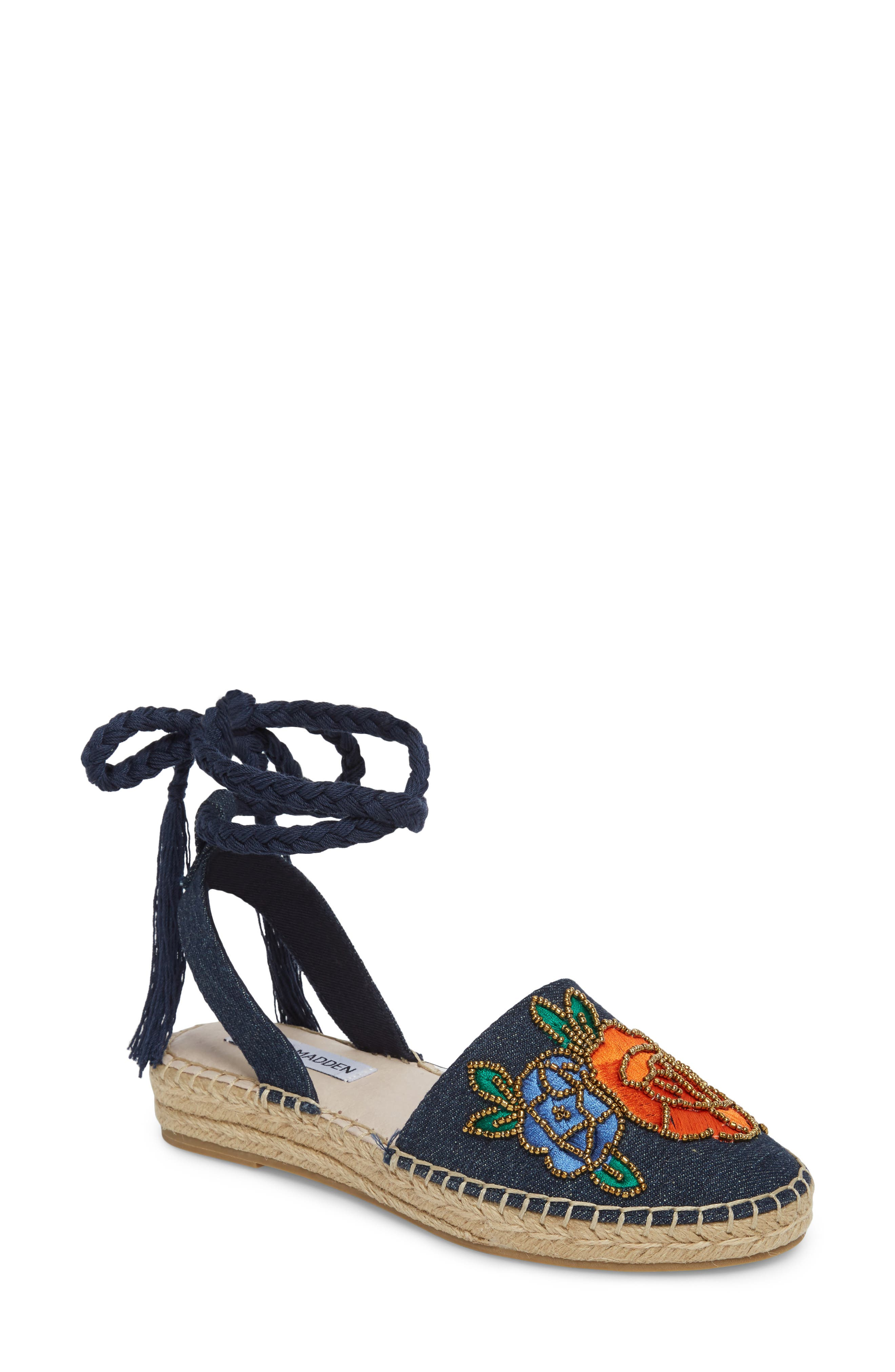 Alternate Image 1 Selected - Steve Madden Mesa Wraparound Espadrille (Women)