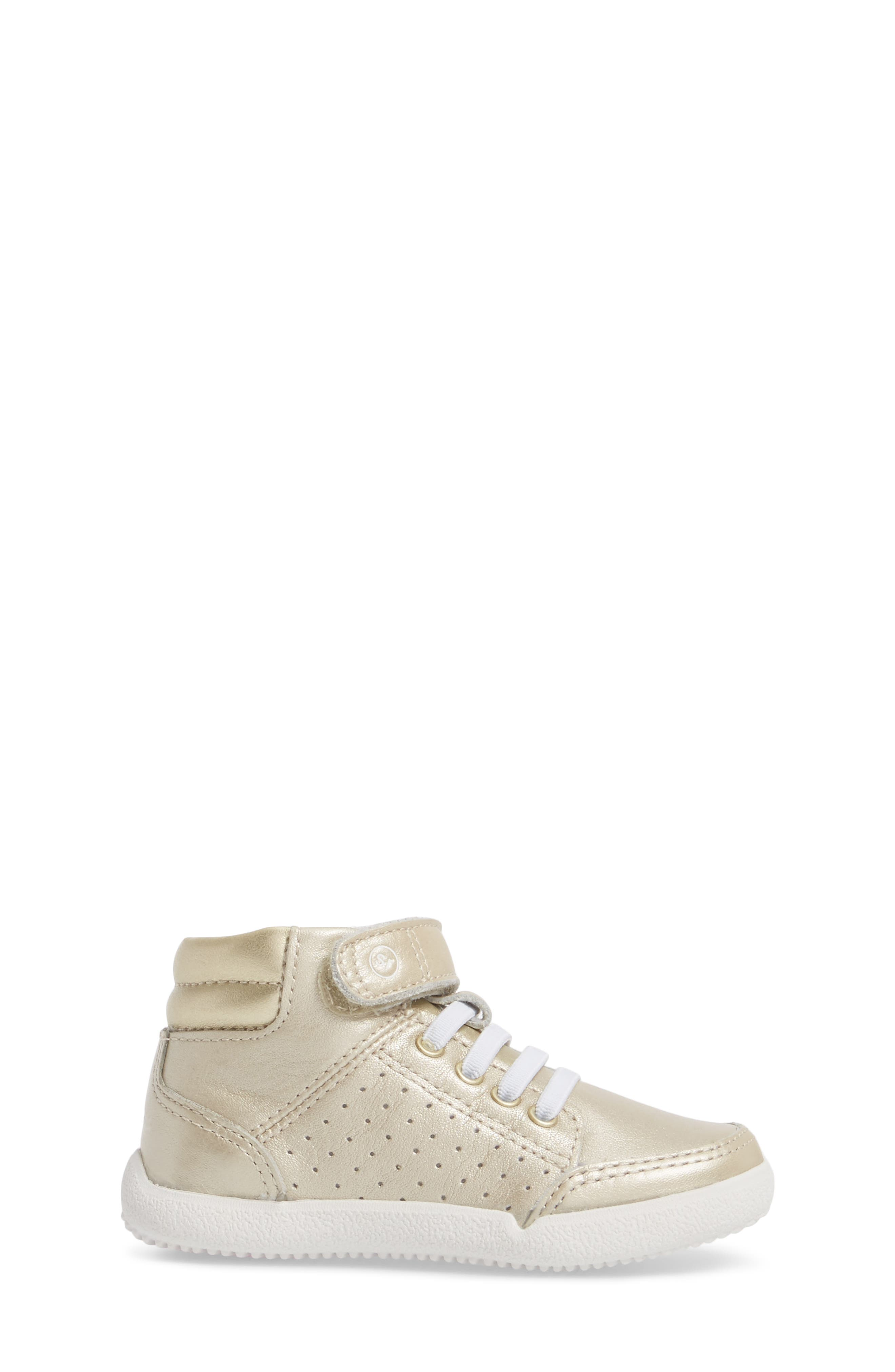 Stone High Top Sneaker,                             Alternate thumbnail 3, color,                             Champagne Leather