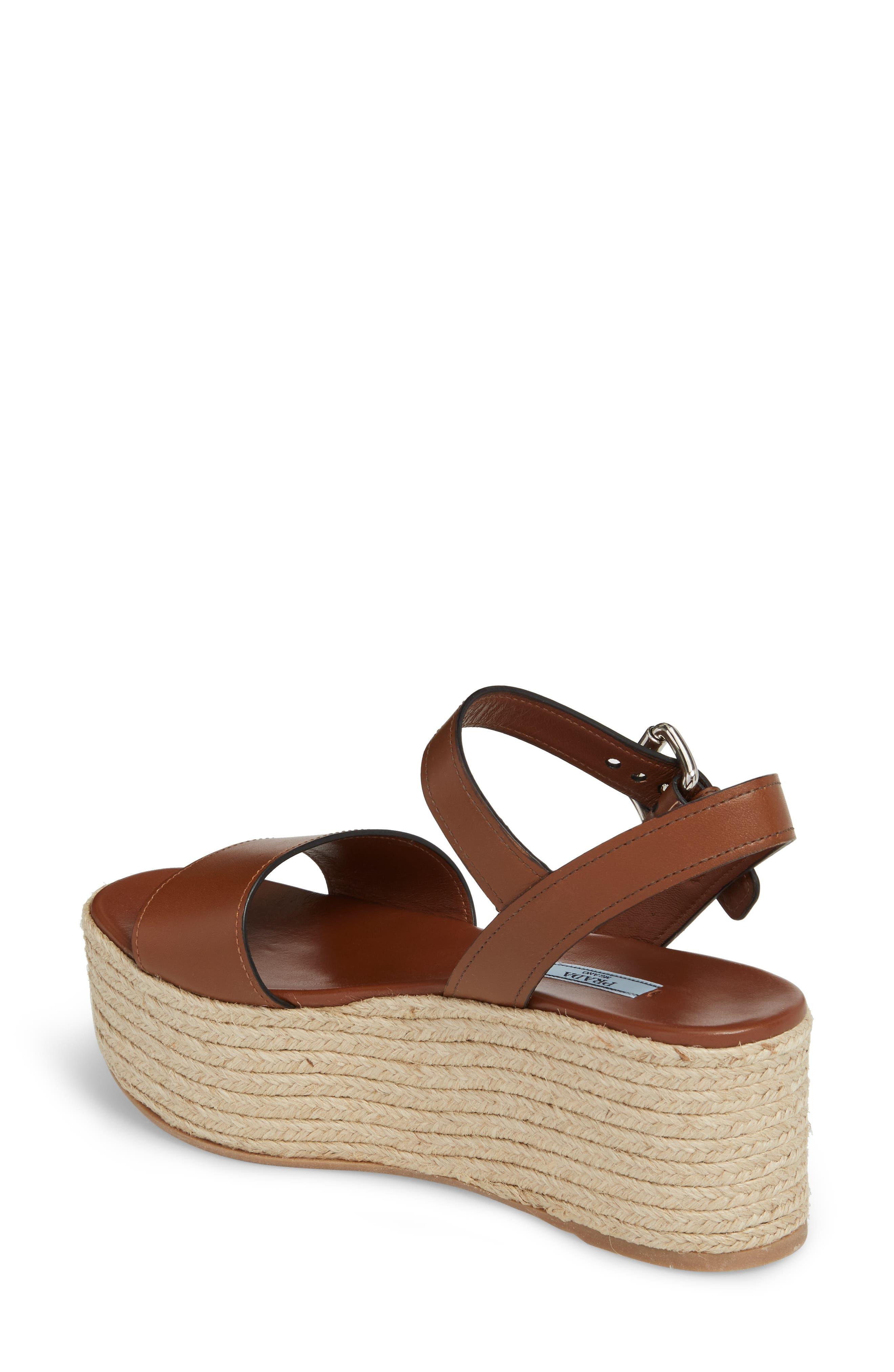 Alternate Image 2  - Prada Platform Espadrille Sandal (Women)