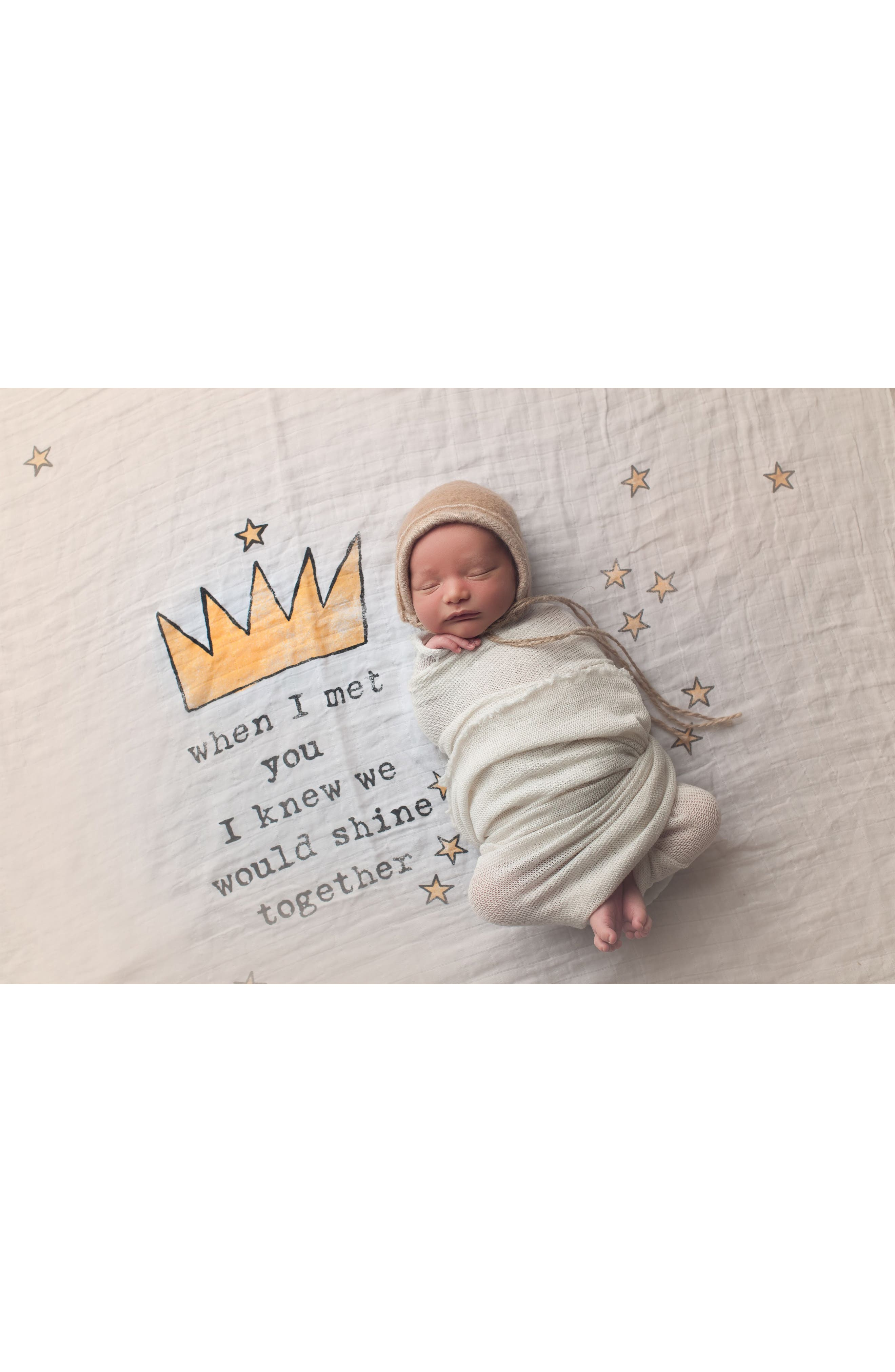Alternate Image 3  - Coveted Things Crowns Organic Cotton Swaddle Scarf