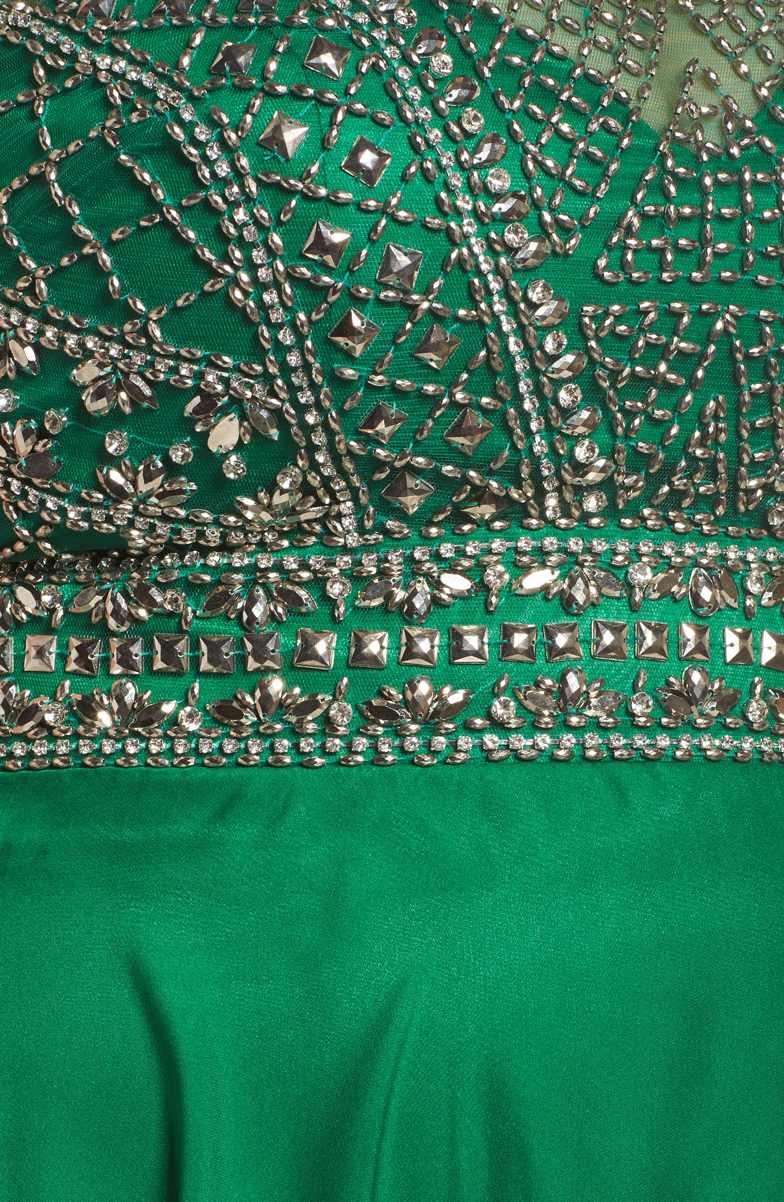 Embellished Ballgown,                             Alternate thumbnail 5, color,                             Emerald