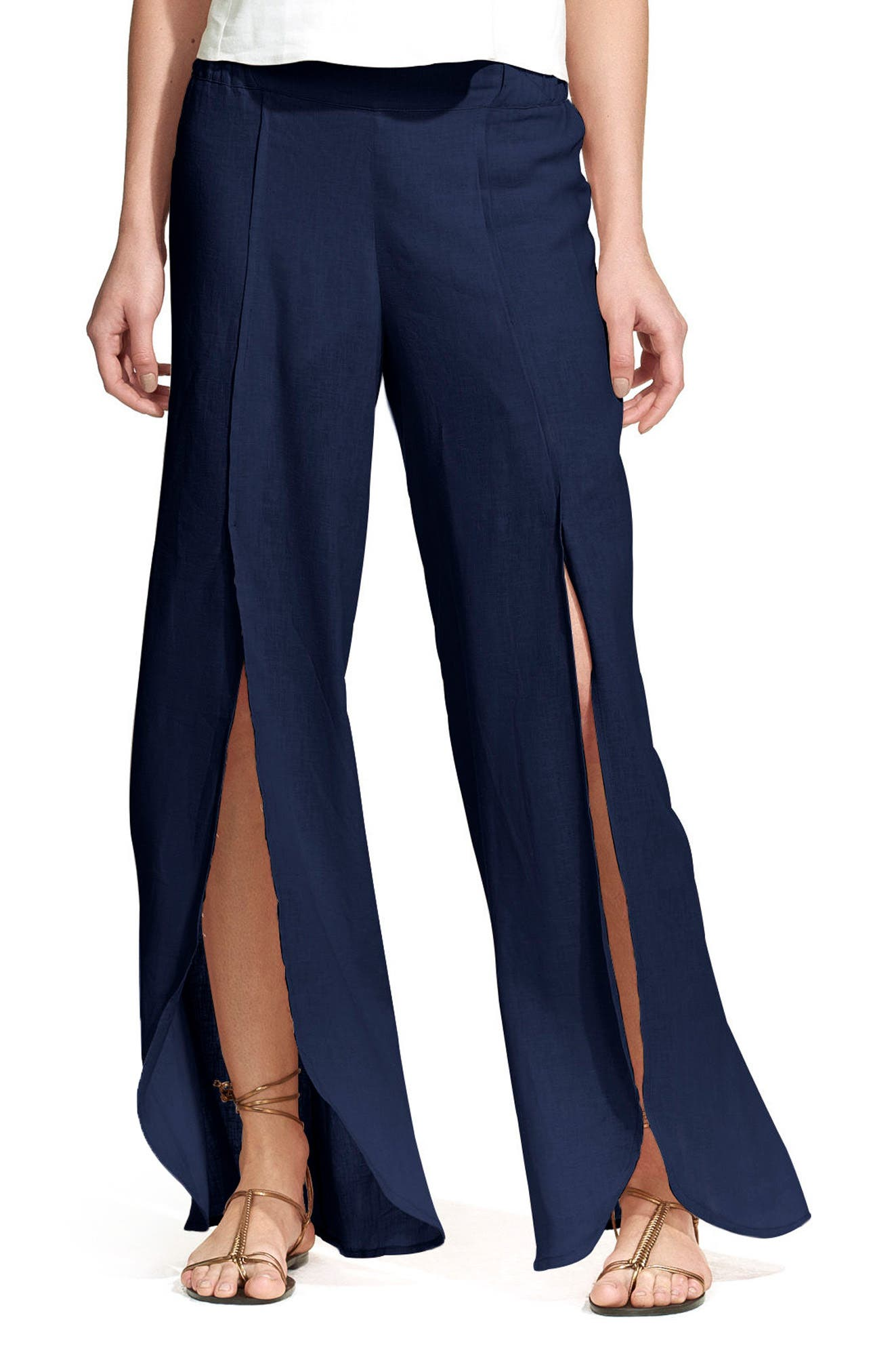 Berry Cover-Up Pants,                         Main,                         color, Navy
