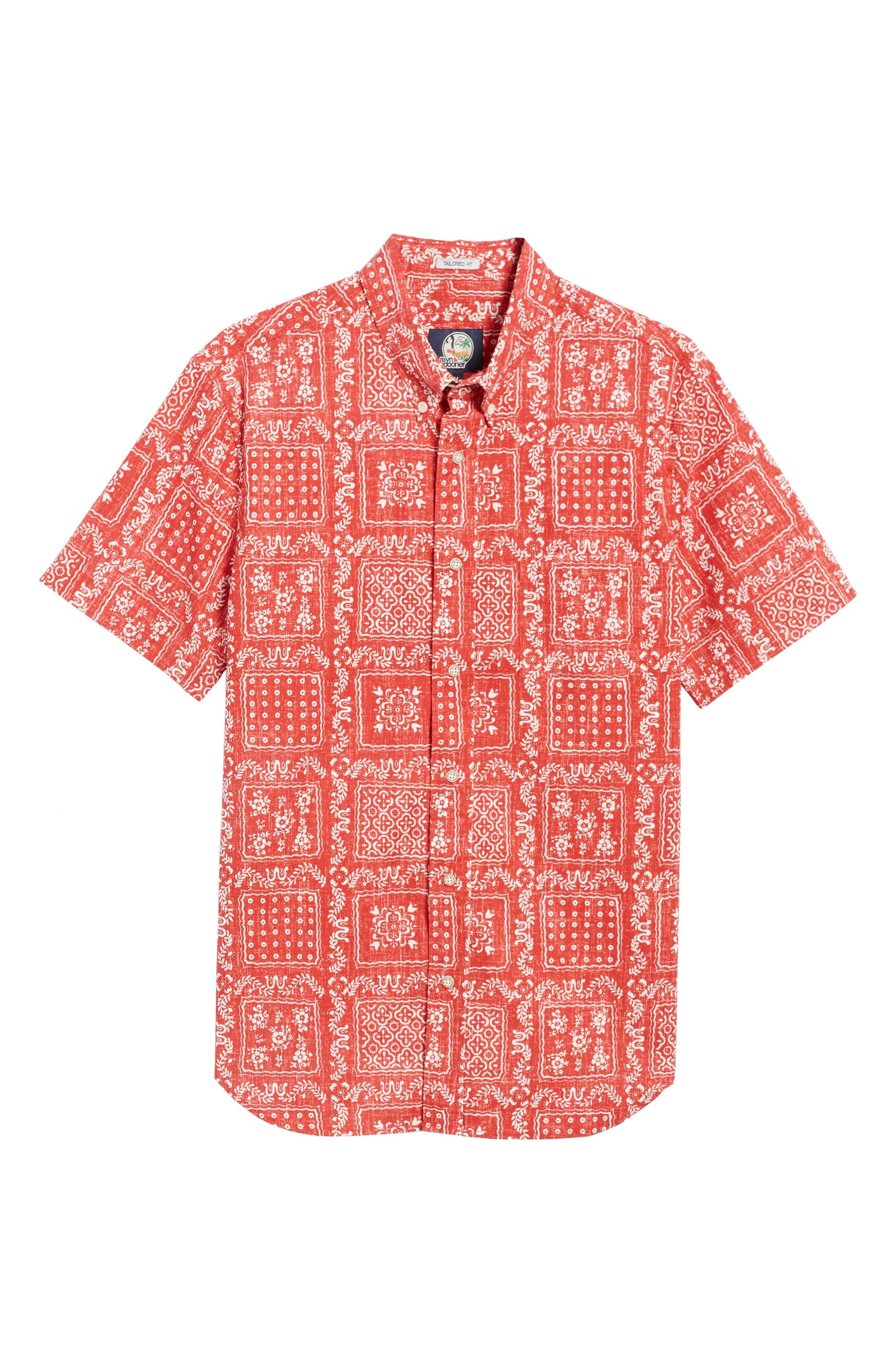 Lahaina Sailor Tailored Fit Sport Shirt,                             Alternate thumbnail 6, color,                             Cherry