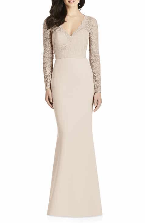 beige bridesmaid dresses nordstrom