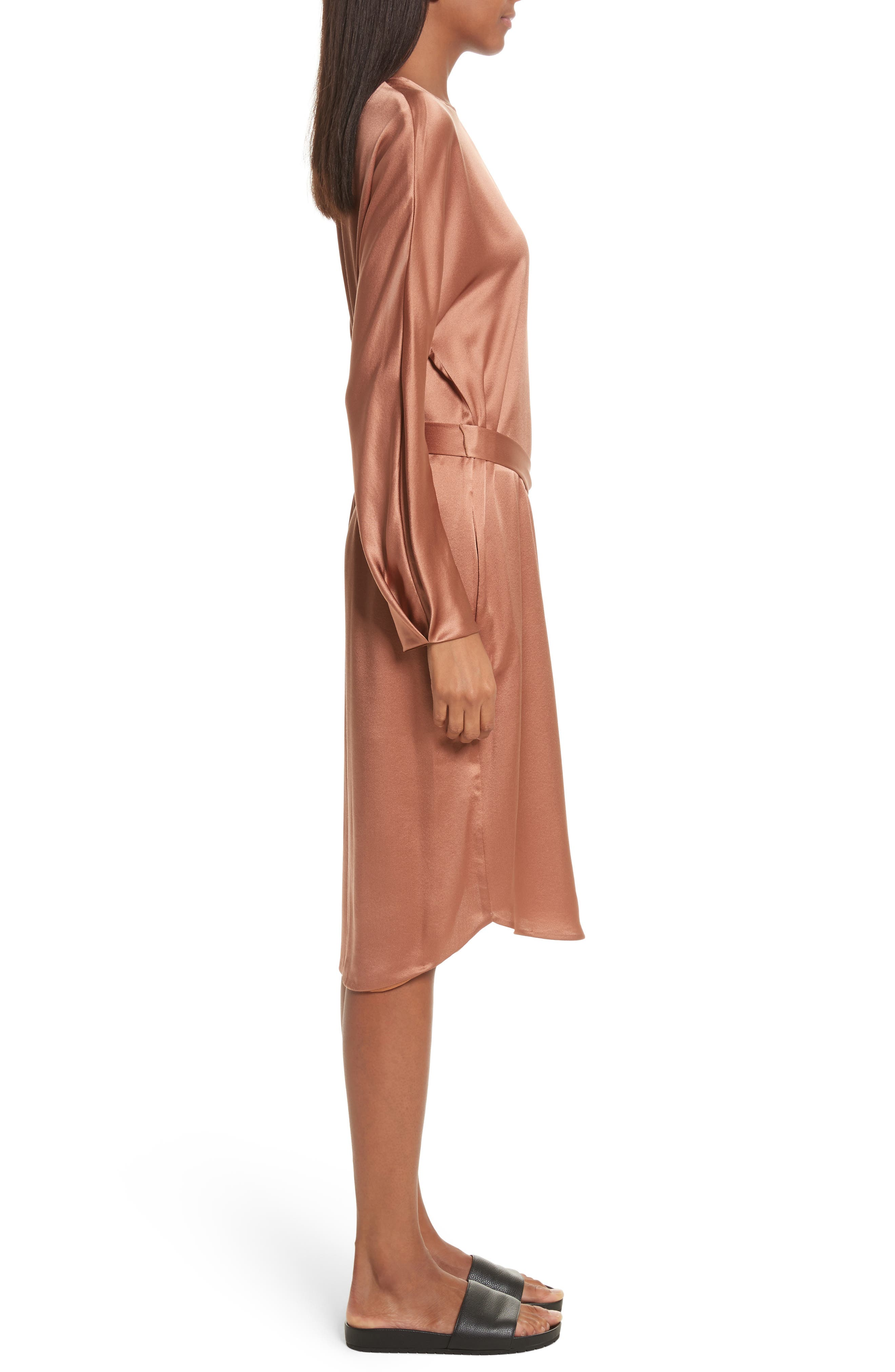 Alternate Image 3  - Vince Seam Front Silk Dress